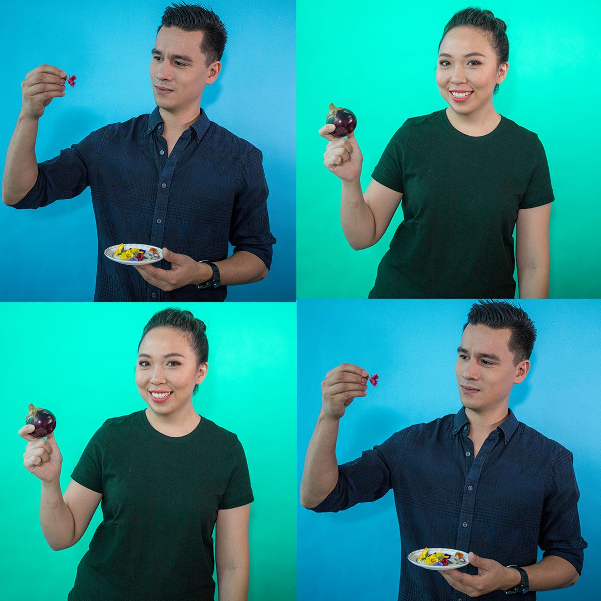 Watch: Chefs Tyson Gee & Karlyn Teo Guess The Ingredients... While Blindfolded