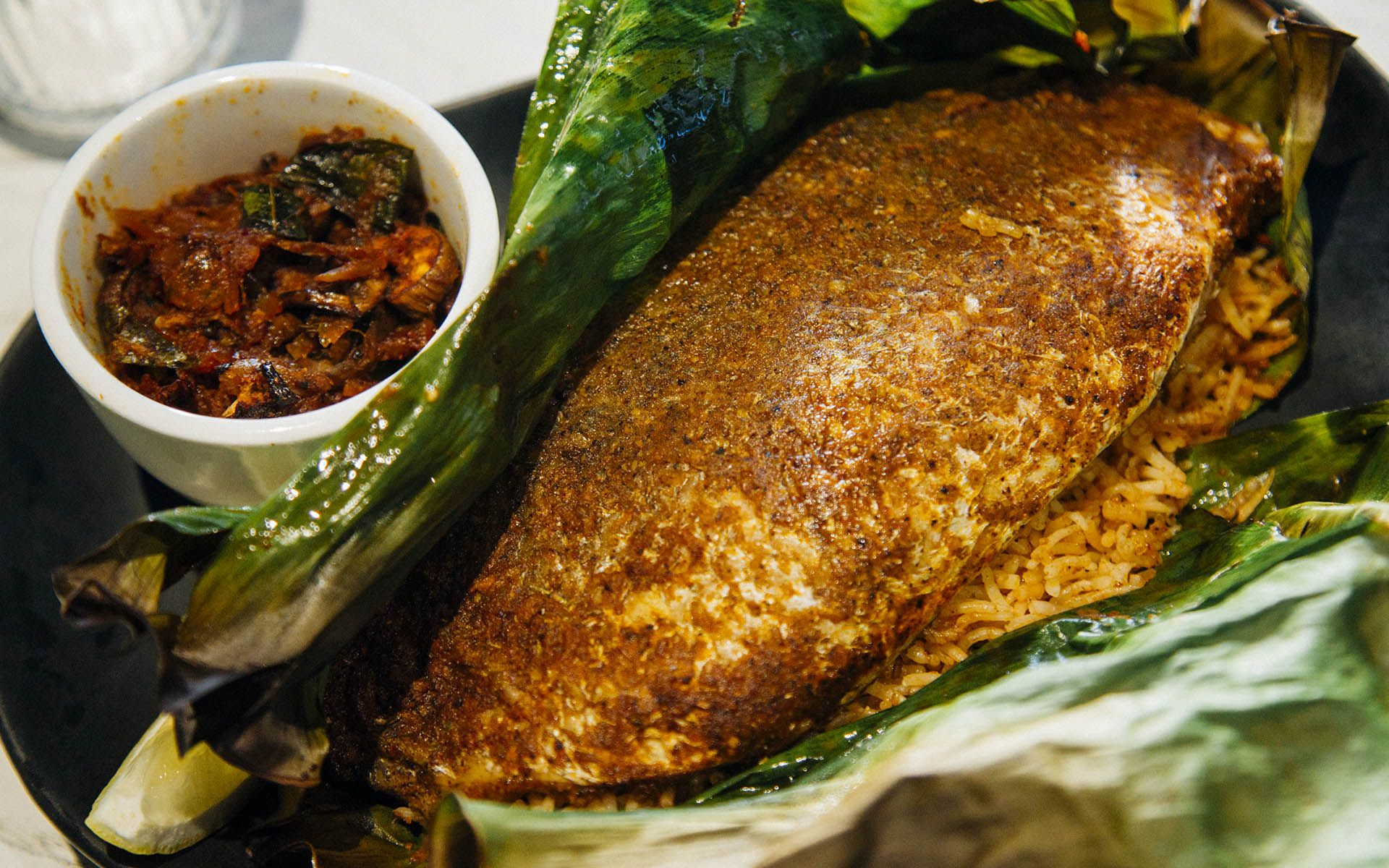 Banana Leaf Baked Sea Bass