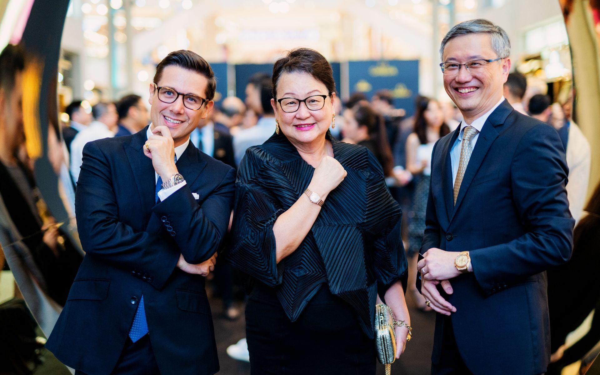 Maxime de Techtermann, Dato' Joyce Yap and Donald Lim