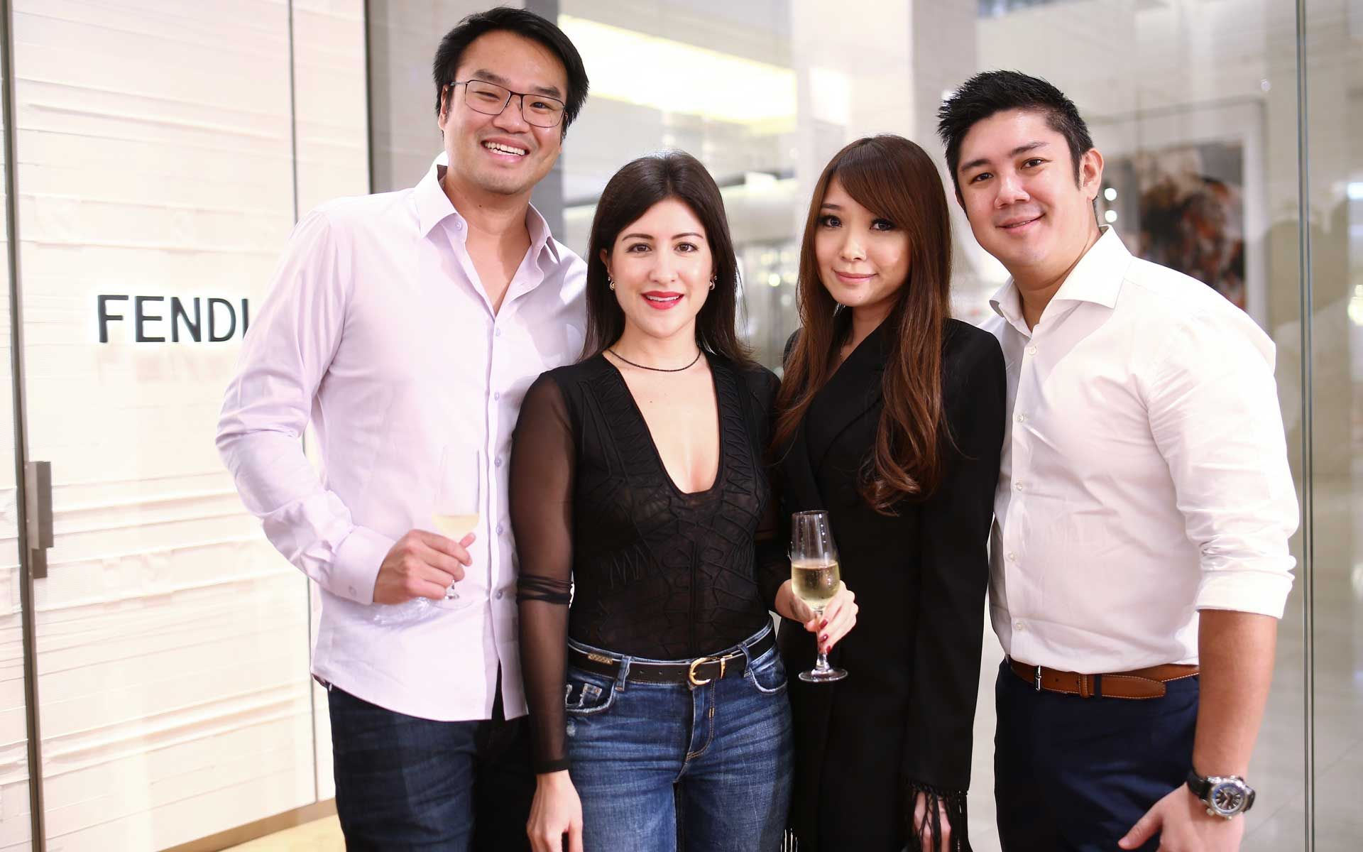 Jing Yuan Ng, Daniela Abad Ng, Melissa Lim and Christopher Tan