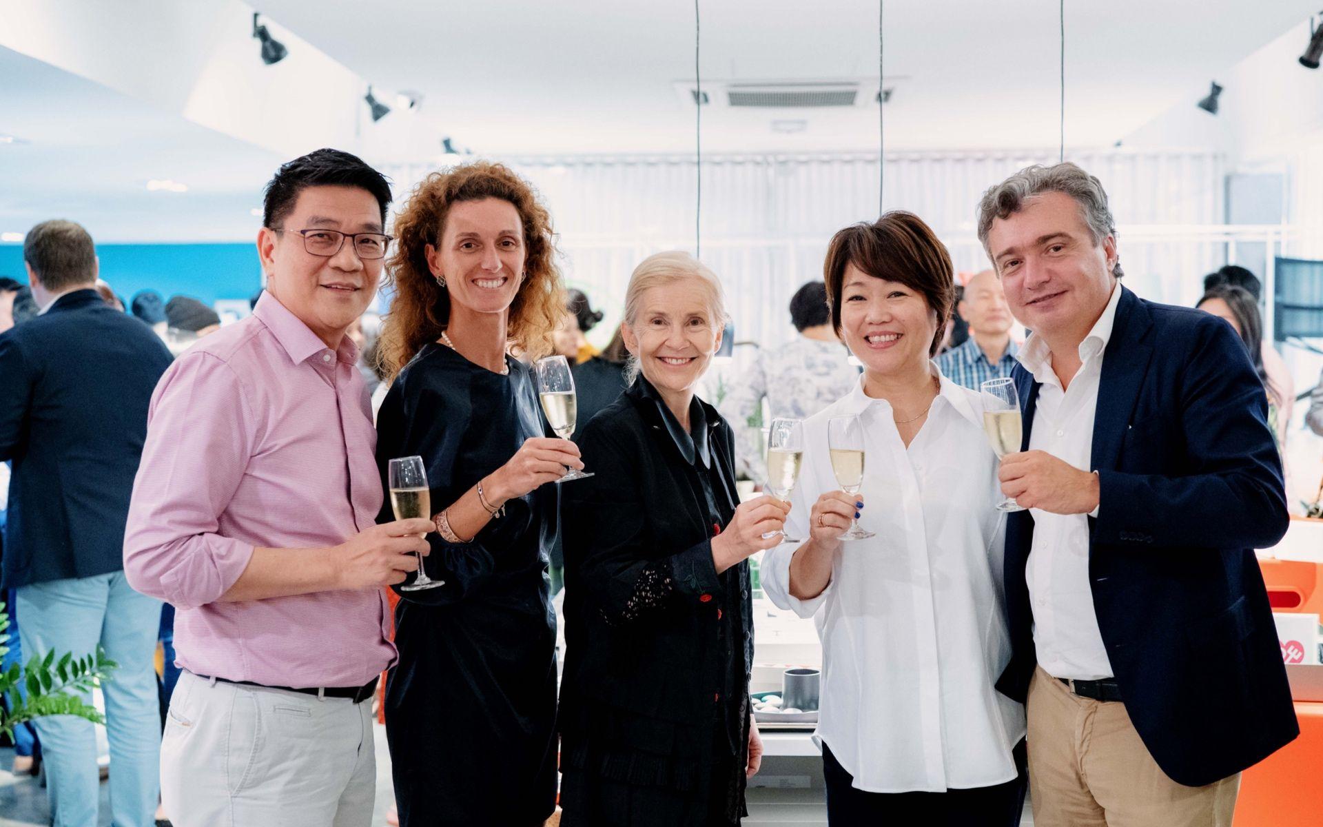 Louis Voon, Martha Ritmonio, HE Andrea Reichlin, Patricia Mok and Andrea Bonardi