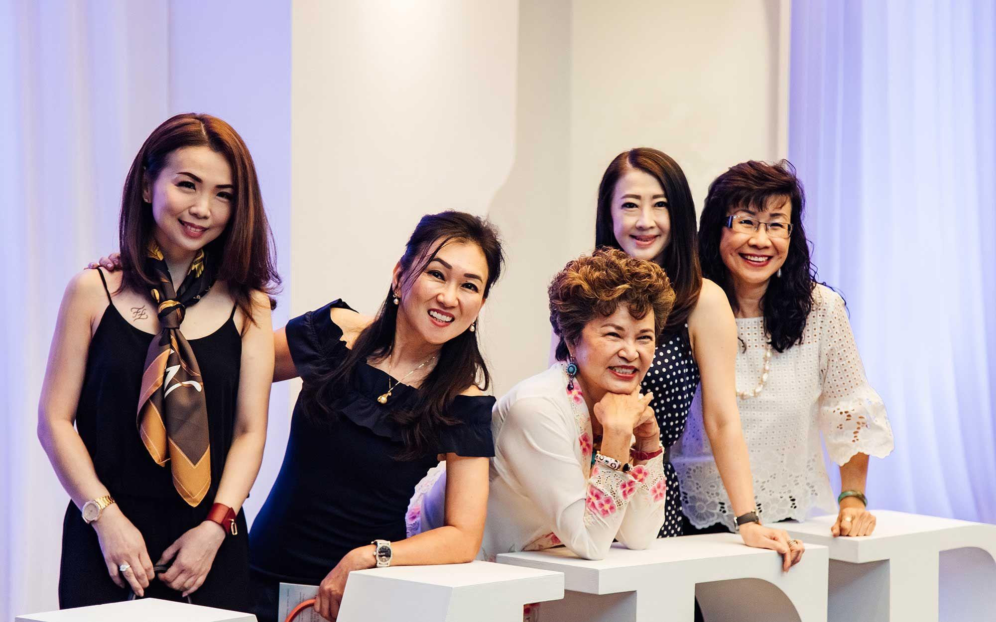 Pauline Gan, Yong Mei Tsin, Tan Sri Ng Yen Yen, Christine Cheah and Florence Fang