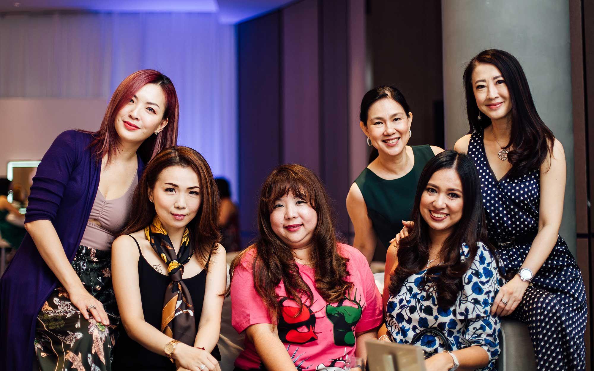 Cherrie Chin, Pauline Gan, Yap Ai Leen, Datin Yvette Kang, Yap Su Lin and Christine Cheah