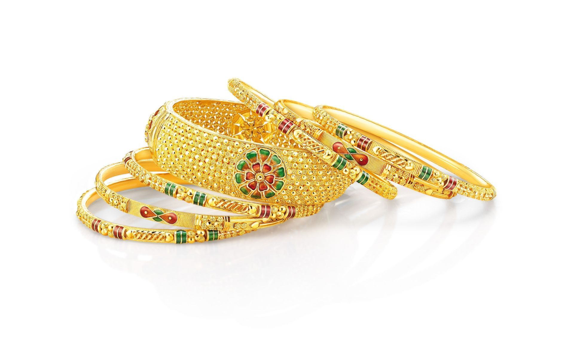 Traditional elements in your jewellery like these bangles are a must-have
