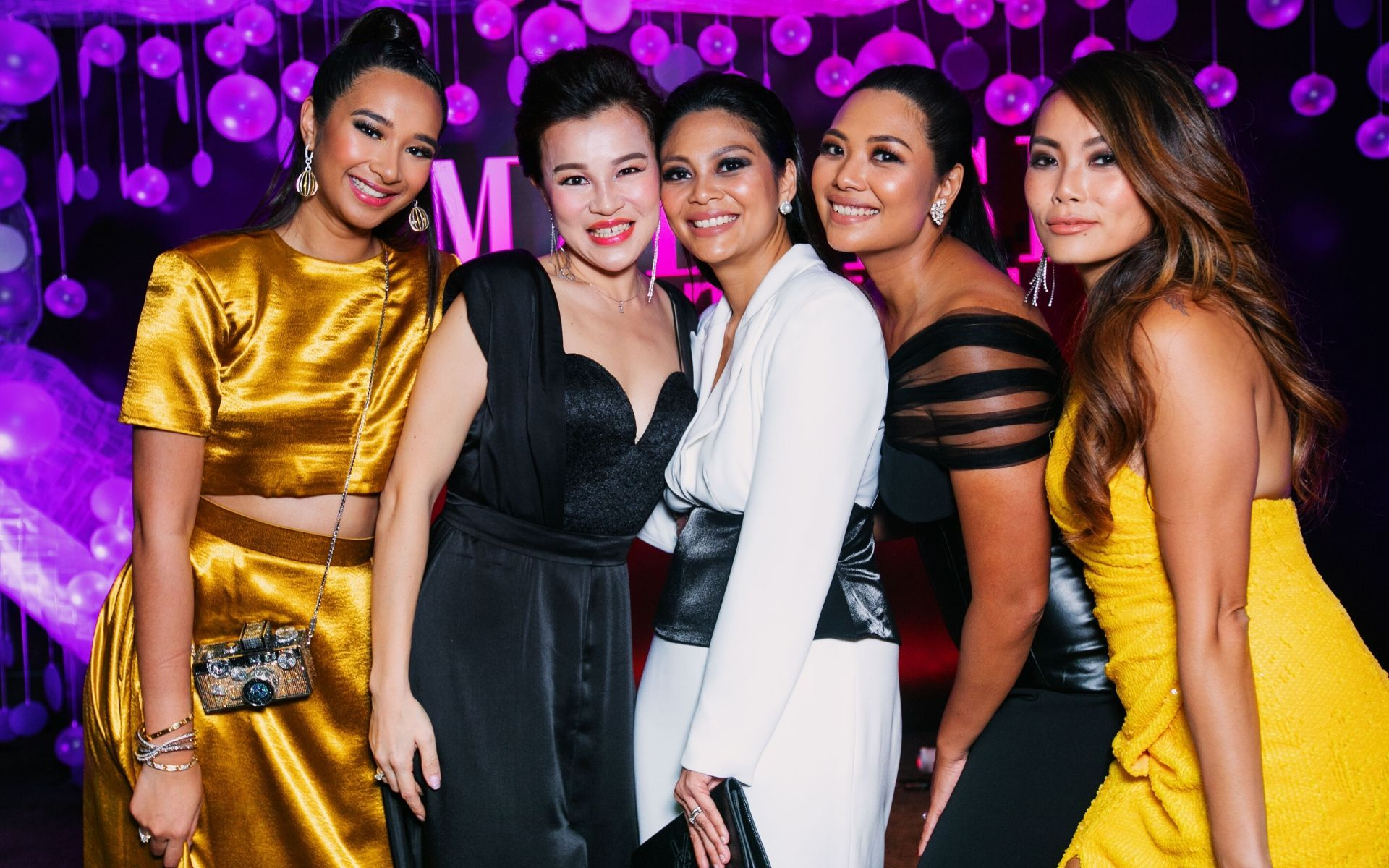 Ally Mukhriz, Melissa Sim, Zaireen Ibrahim, Zaida Ibrahim and Ung Yiu Lin at Malaysia Tatler Ball 2019
