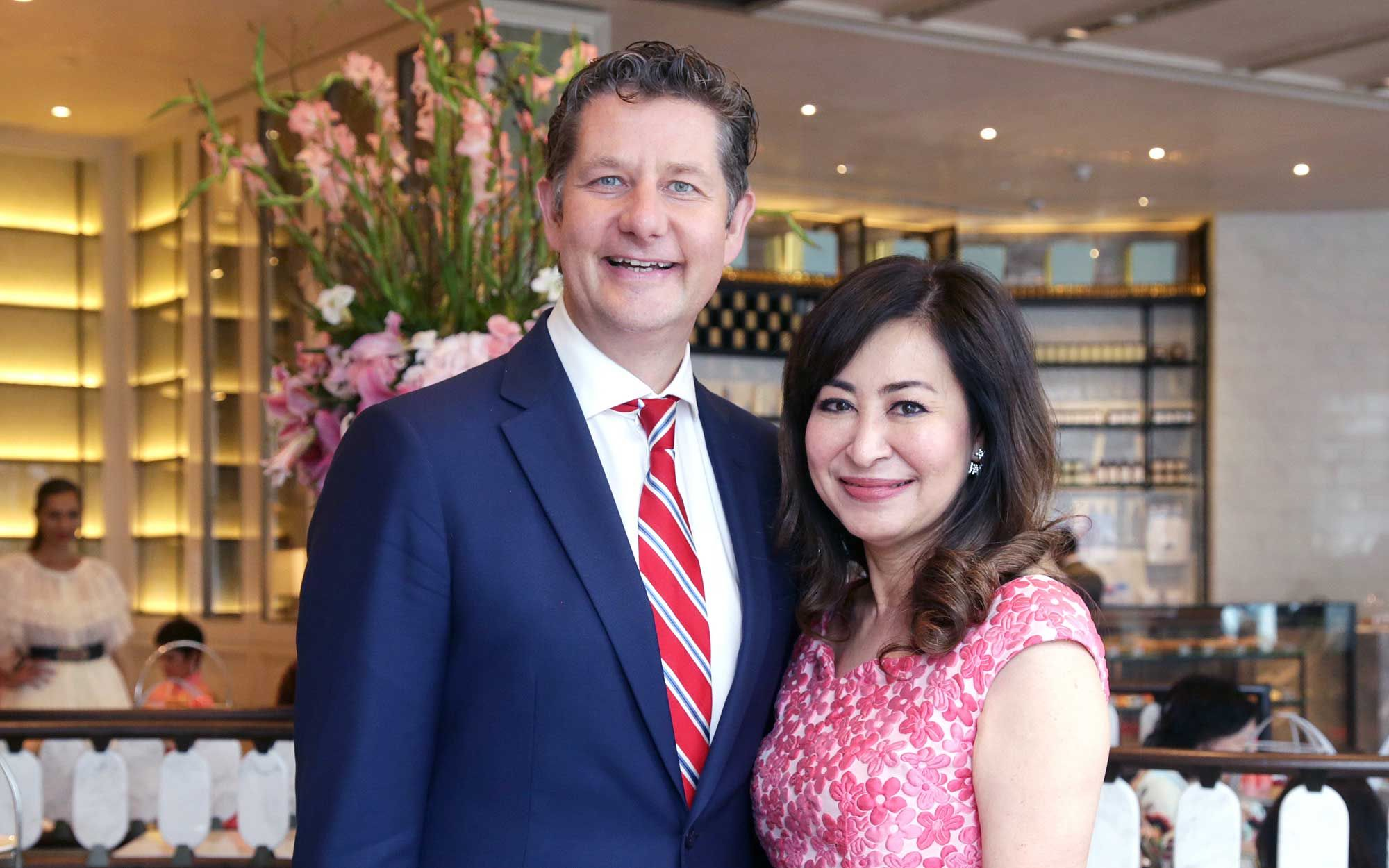 Tom Roelens and Vivienne Cheng