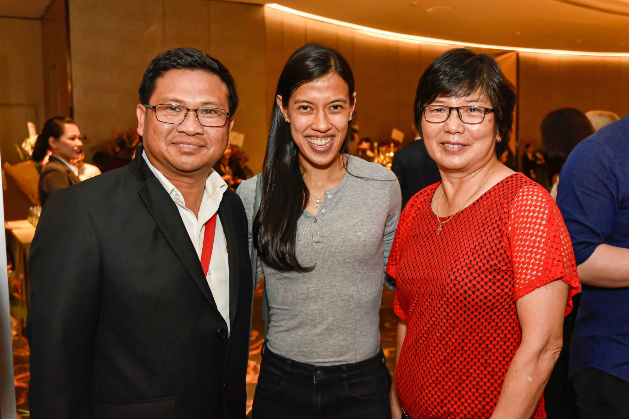 Christopher Low, Datuk Nicol David and Mary Lee
