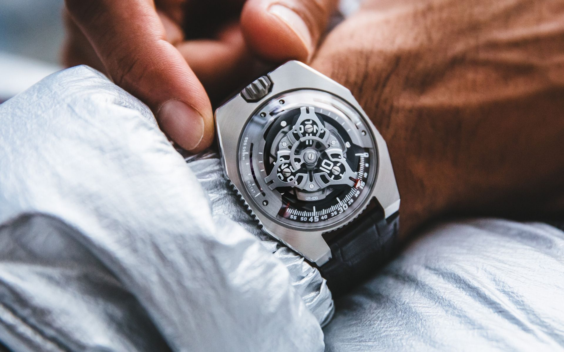 The Urwerk UR-100 SpaceTime Watch Measures Distance Travelled On Earth - And By Earth