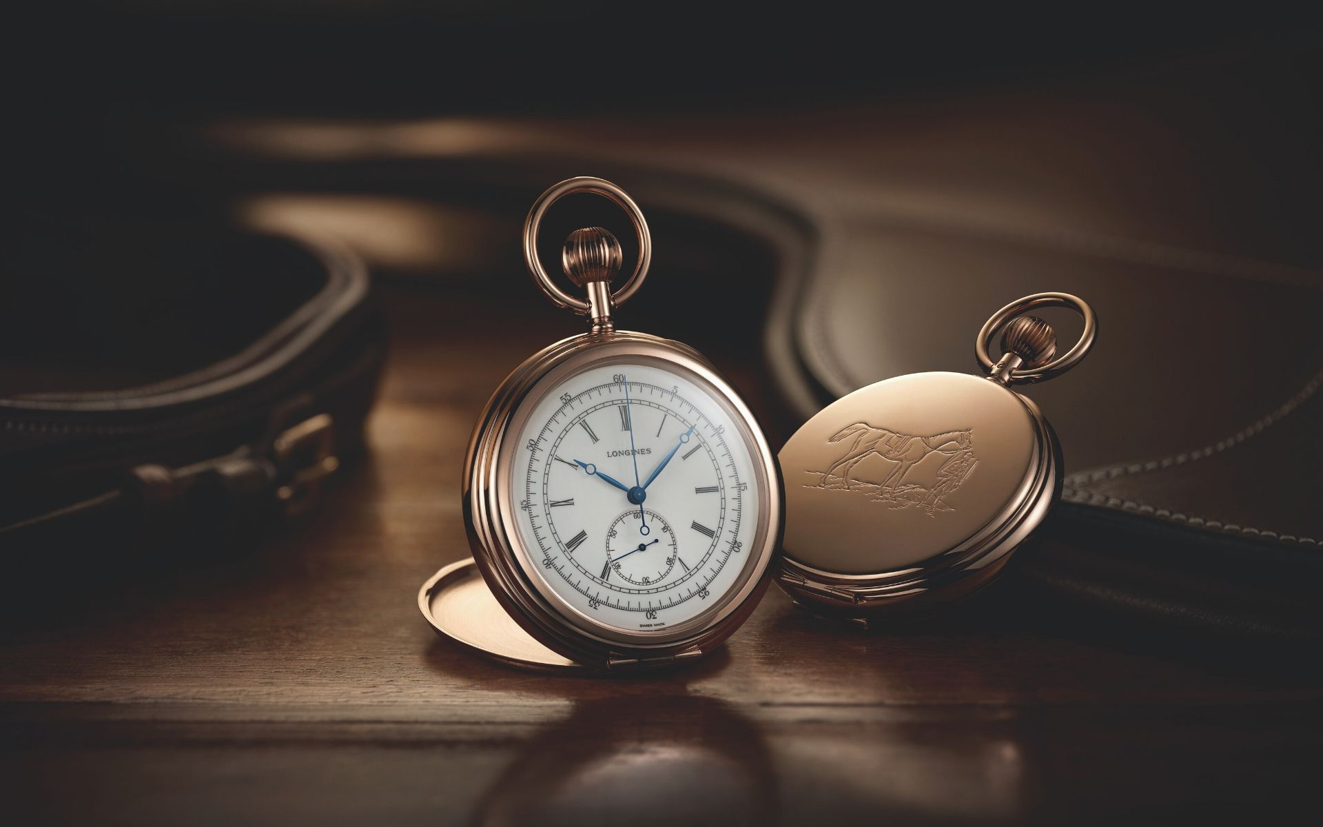 Longines Reinterprets 8 Early Pocket Watches Engraved With Equestrian Motifs