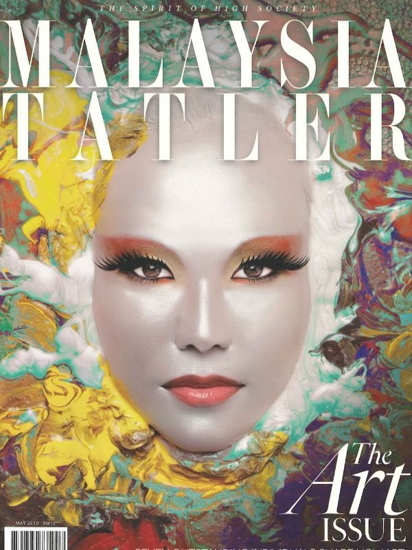 May 2010: The daughter of legendary Malaysian artist Datuk Ibrahim Hussein, Alia Ibrahim Hussein graces the cover of Malaysia Tatler's highly praised art issue in 2010. (Photography: Allan Casal)