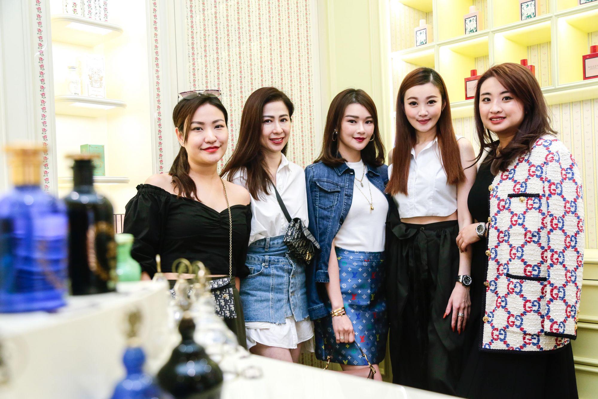 Li Ping, Datin Kim Isabelle, Datin Sri Eannes Chop, Datin Franklene Choong and Sandy Tan