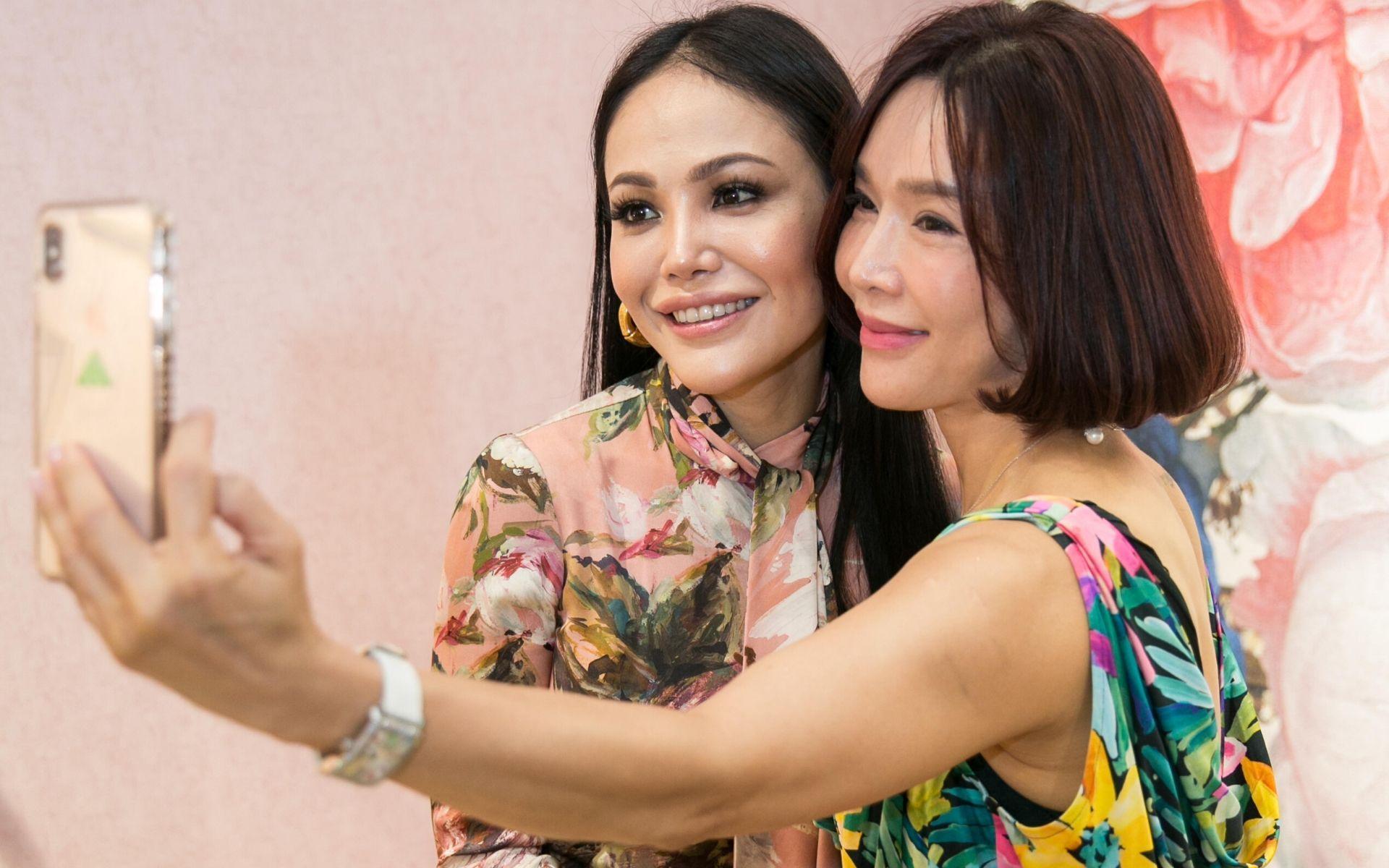Sophia Mohd Noor and Cindy Chui