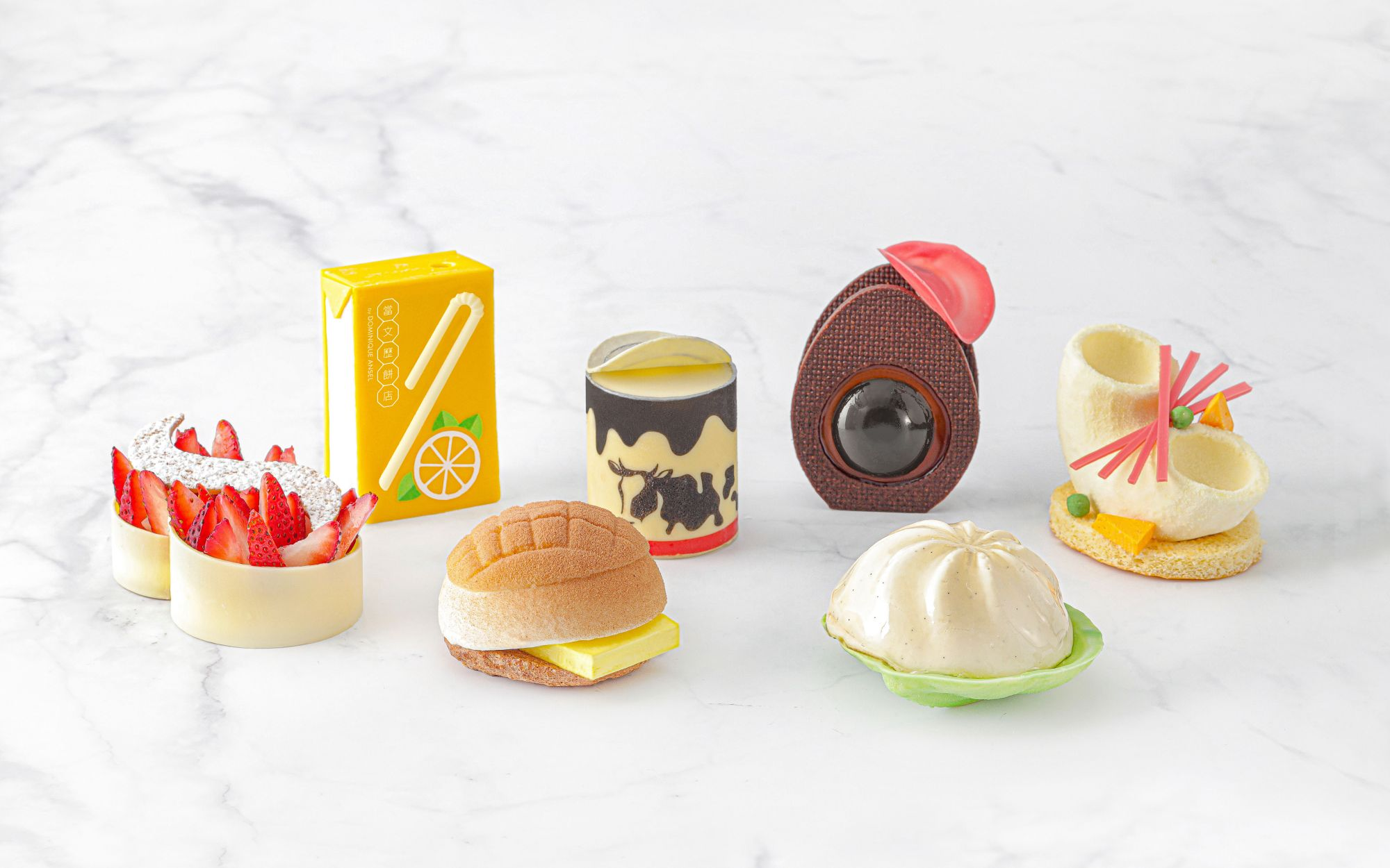 Assorted pastries at Dang Wen Li, a Hong Kong capsule collection by Dominique Ansel