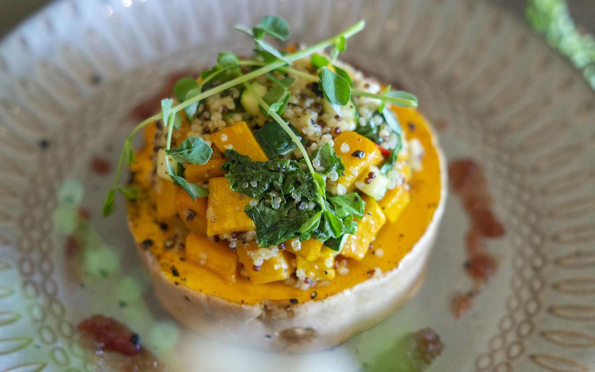 Roasted Butternut Pumpkin | Quinoa | Kale | Capsicum | Cranberry Sauce