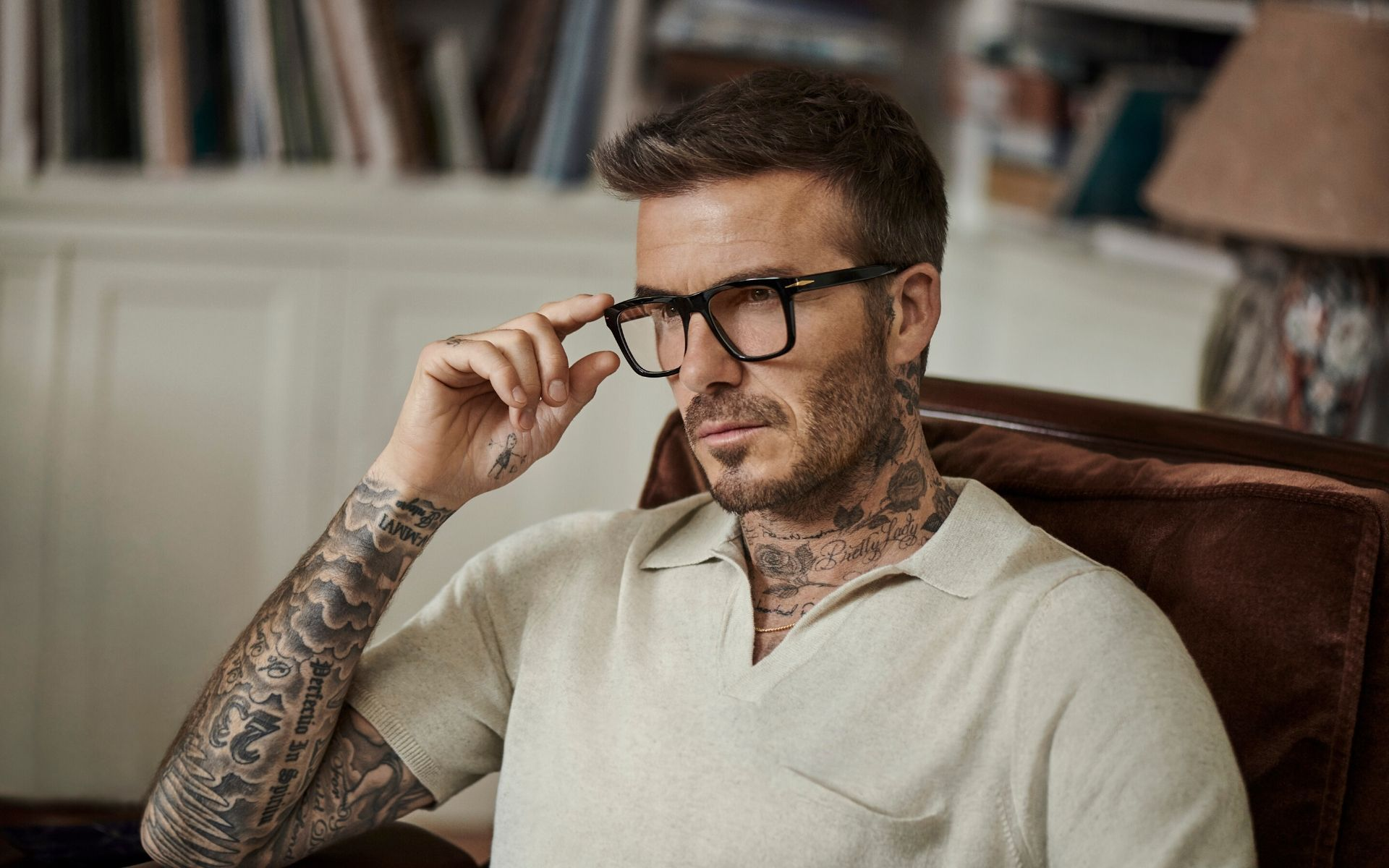 David Beckham Launches New Eyewear Line With Video Campaign Directed By Son Brooklyn