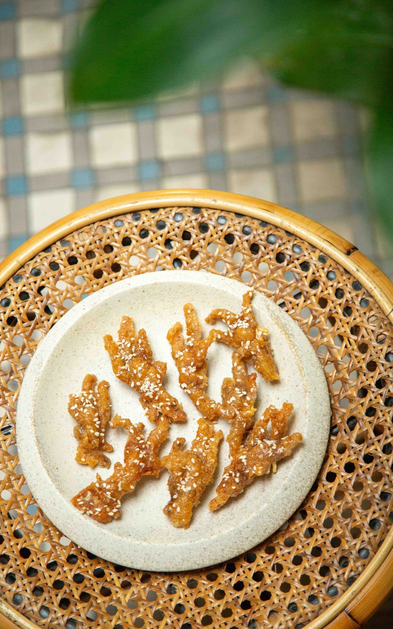 Chicken feet with soy caramel & sesame seeds