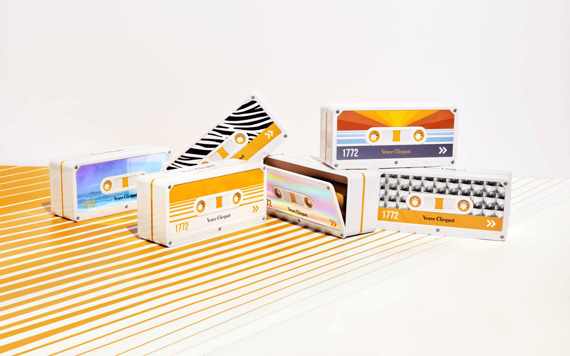 Veuve Clicquot Goes Retro: Limited Edition Cases Inspired By Cassette Tapes