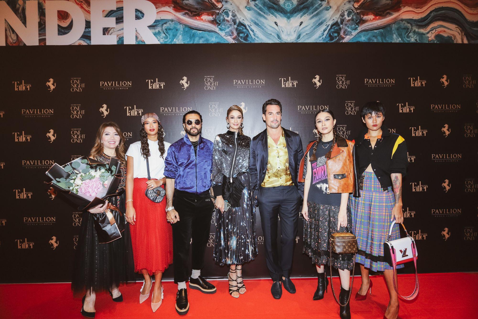 Tatler Malaysia's Most Stylish (from left): Lee Jim Leng, Ally Mukhriz, Dato' Bernard Chandran, Kavita Sidhu, Roberto Guiati, Scha Alyahya, and Alicia Amin