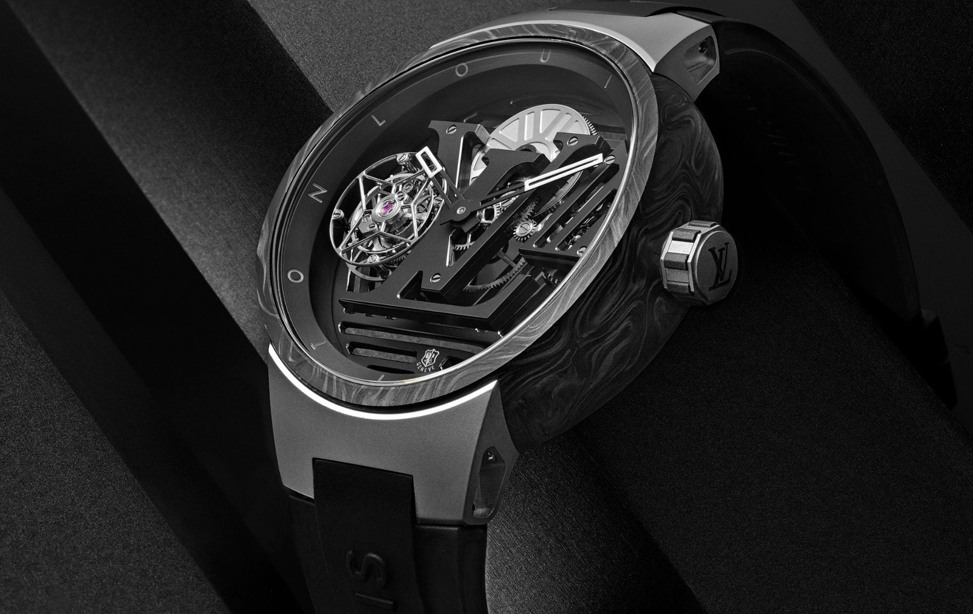 Meet the Tambour Curve Flying Tourbillon Poincon de Genève, Louis Vuitton's Luxurious New Watch