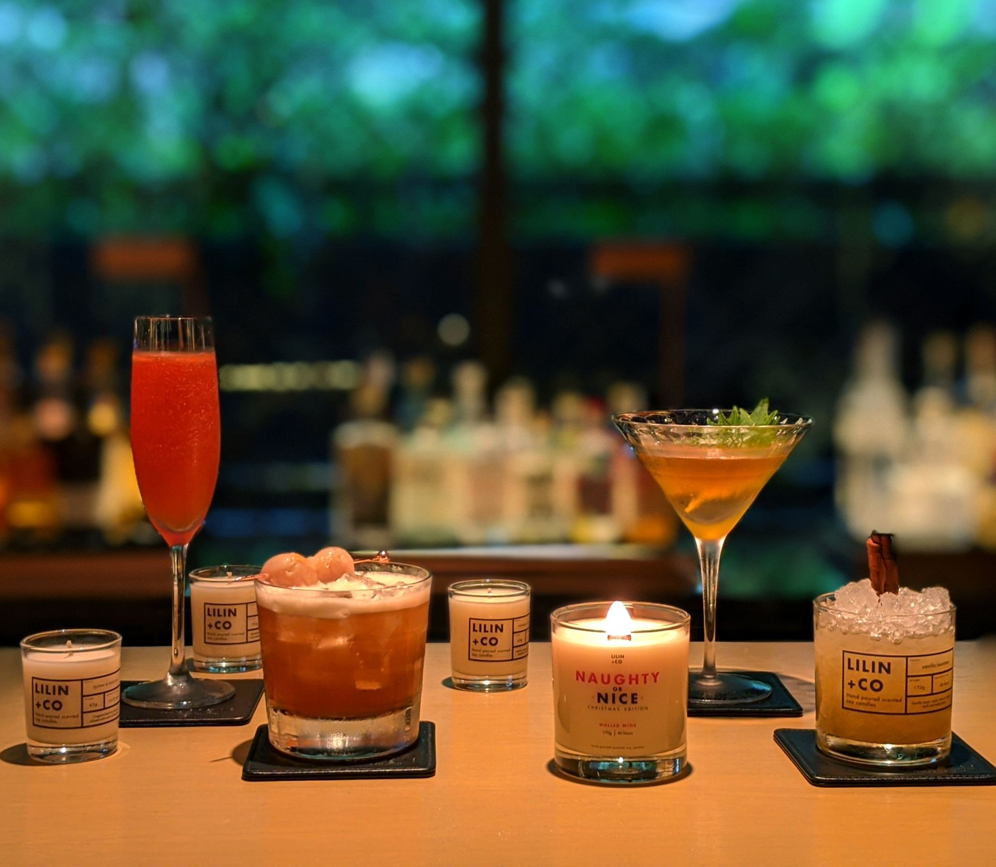 Cocktails Inspired By Lilin+Co Scented Candles At RuMa Hotel & Residences
