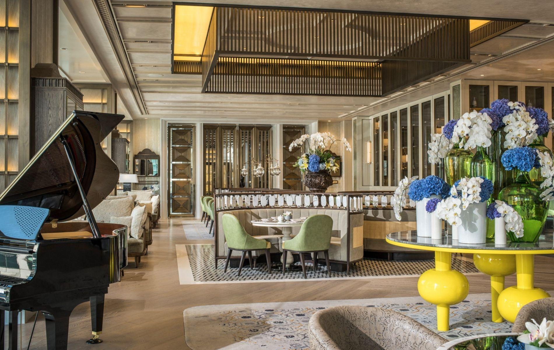The lobby lounge of Four Seasons Kuala Lumpur
