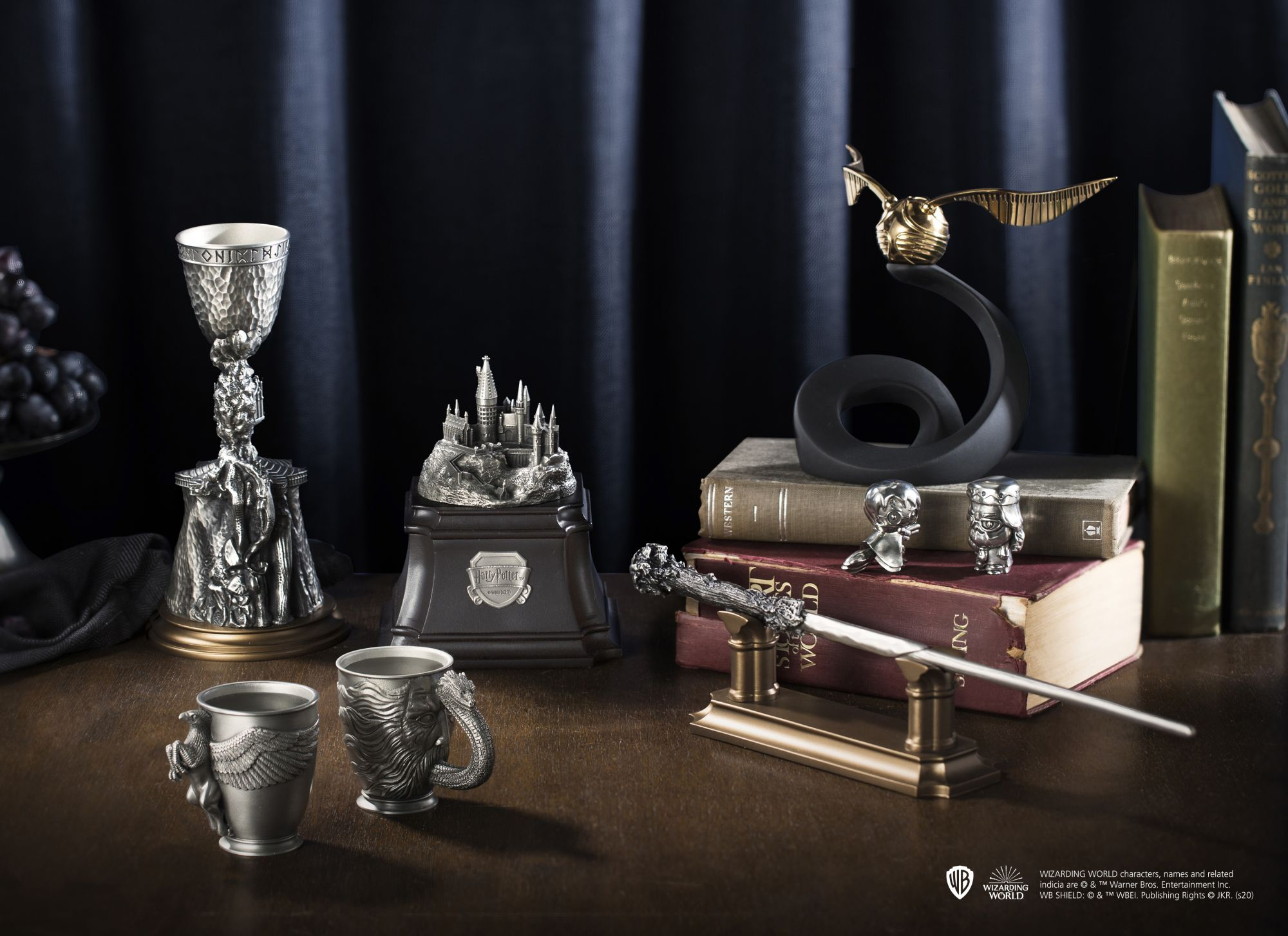 Pewter collectibles from the Wizarding World of Harry Potter (Photo: Royal Selangor)