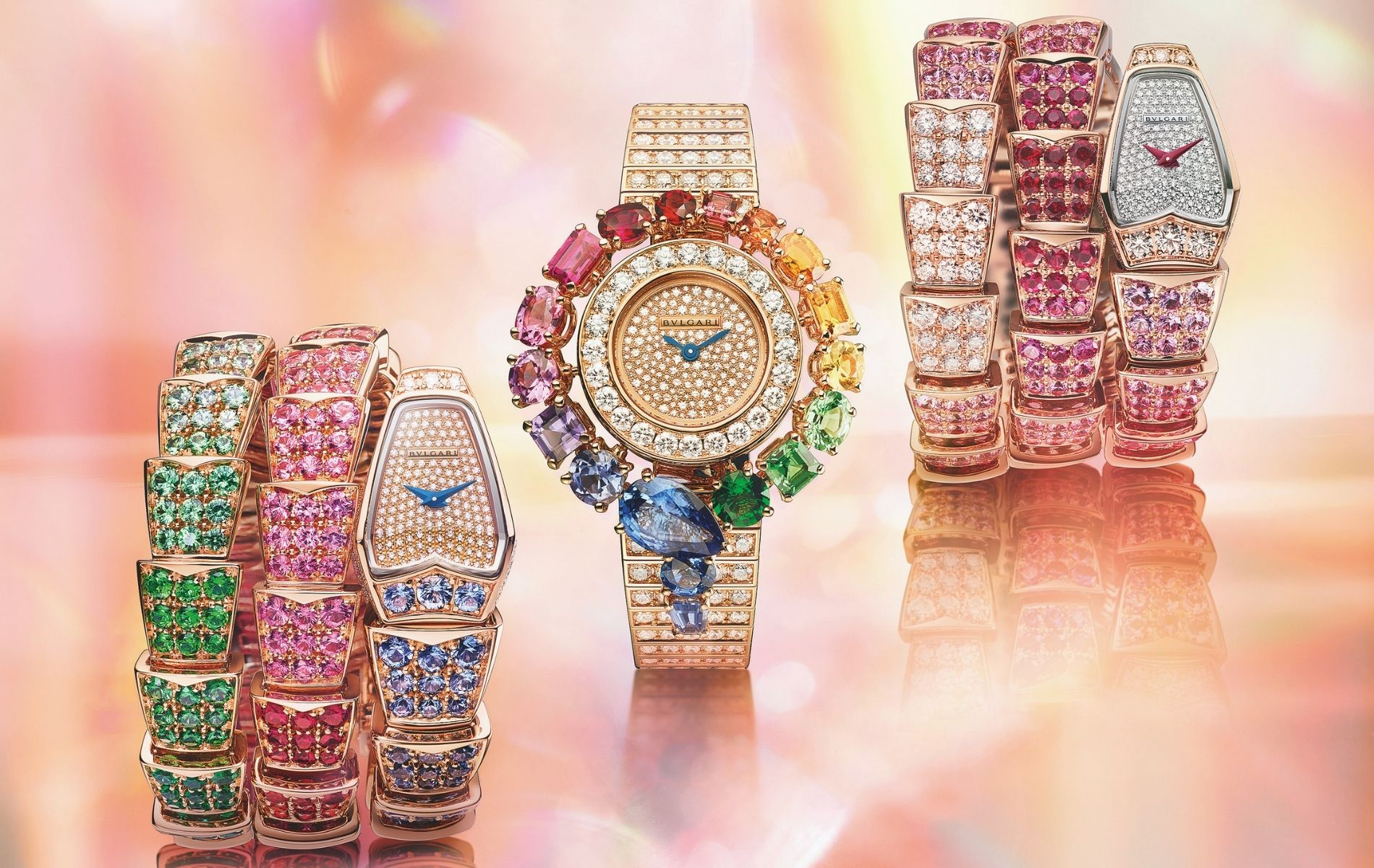 'Tis the season to be jolly! Keep scrolling for watches that reflect the colours of the festive season. (Photo: Bulgari)