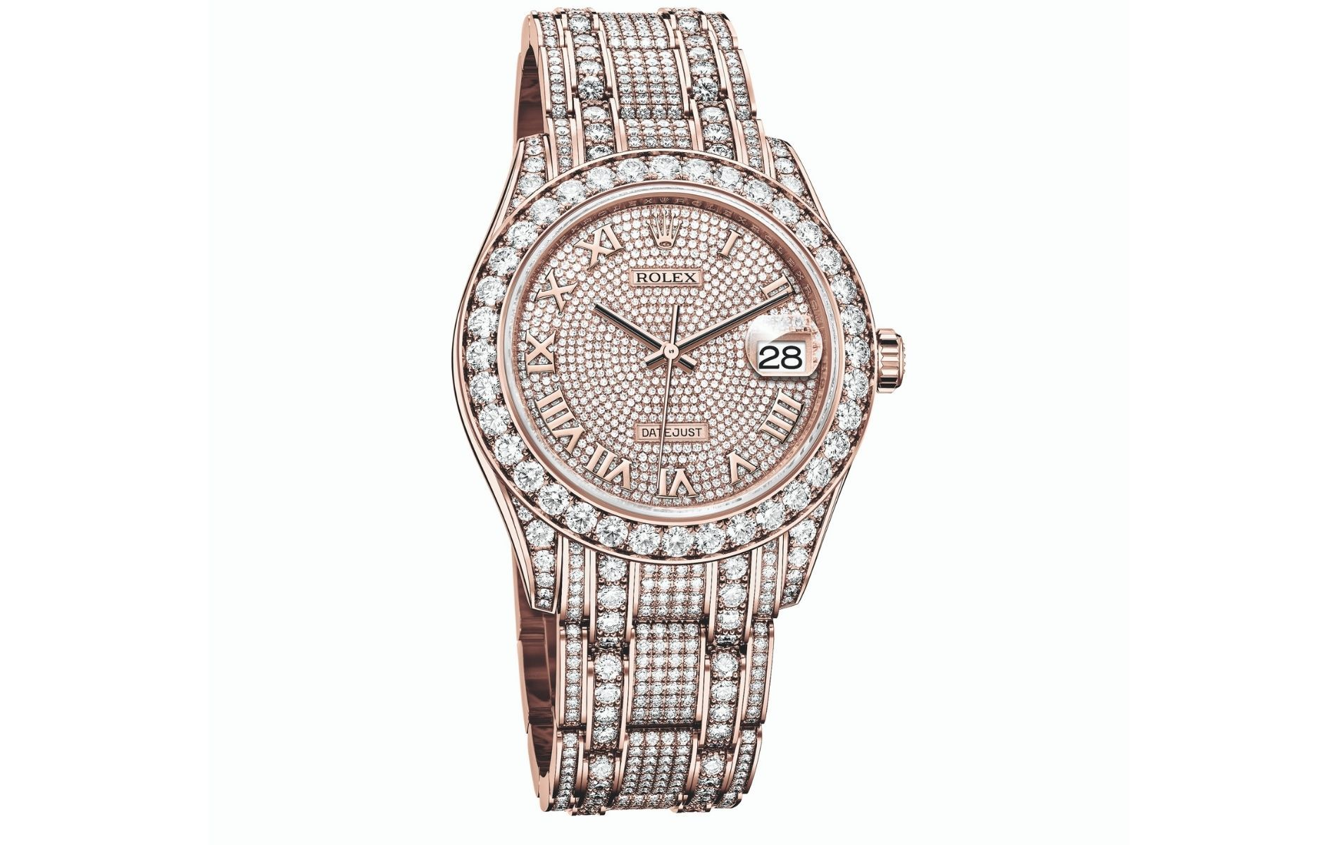 Rolex Oyster Perpetual Pearlmaster 39 in 18k Everose gold set with diamonds (Photo: Rolex)