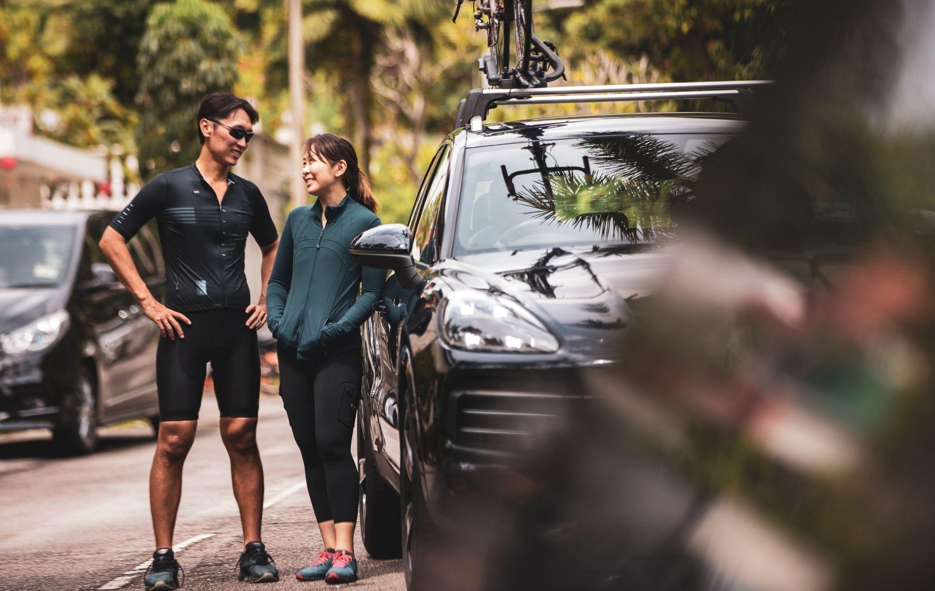 Tan Shen Wein and Lim Ai San stay on the active trail with Porsche Cayenne (Photo: Khairul Imran/Tatler Malaysia)