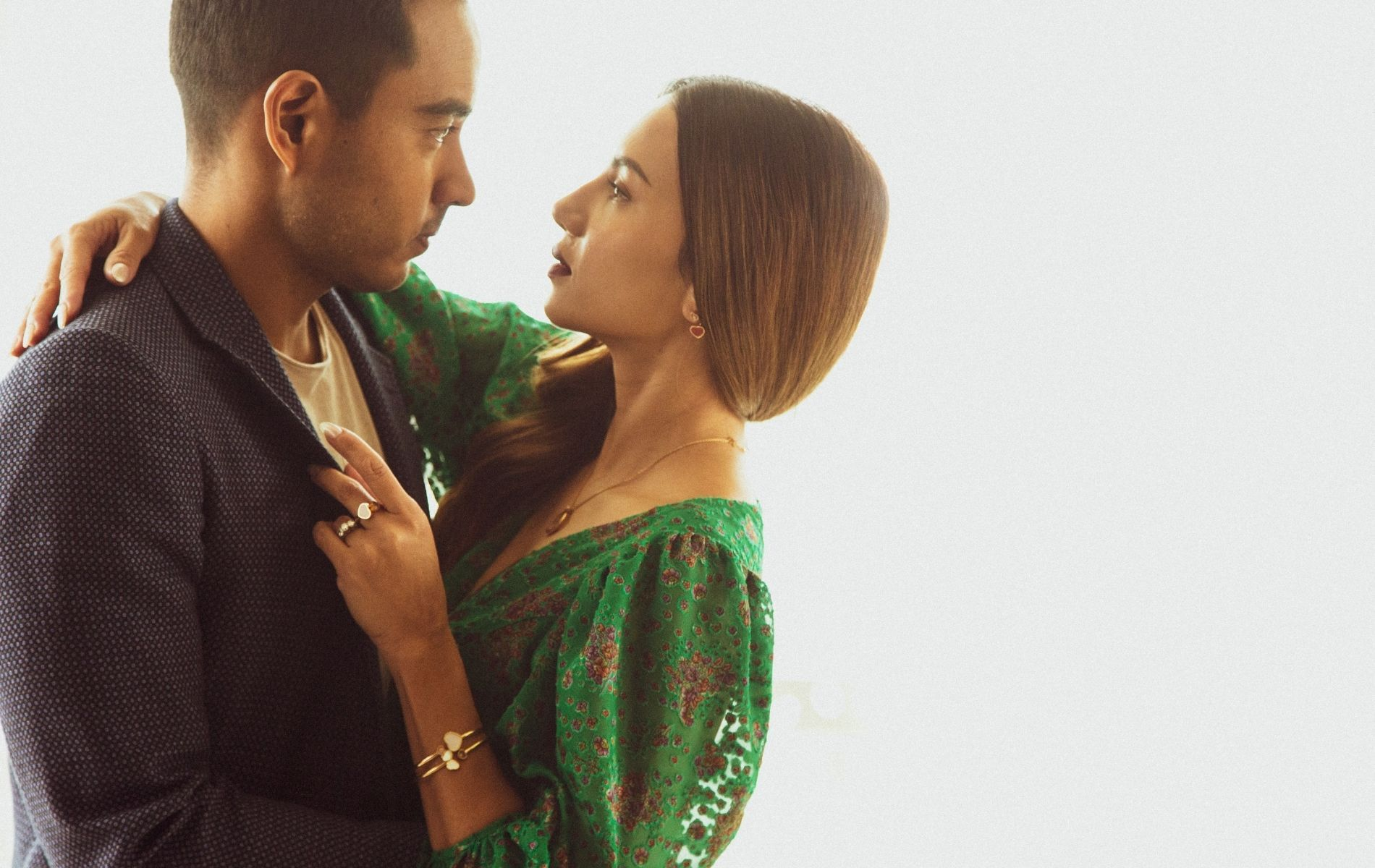 Matthew Nathan and Shaleen Cheah who's wearing Chopard jewellery (Photo: Khairul Imran/Tatler Malaysia)