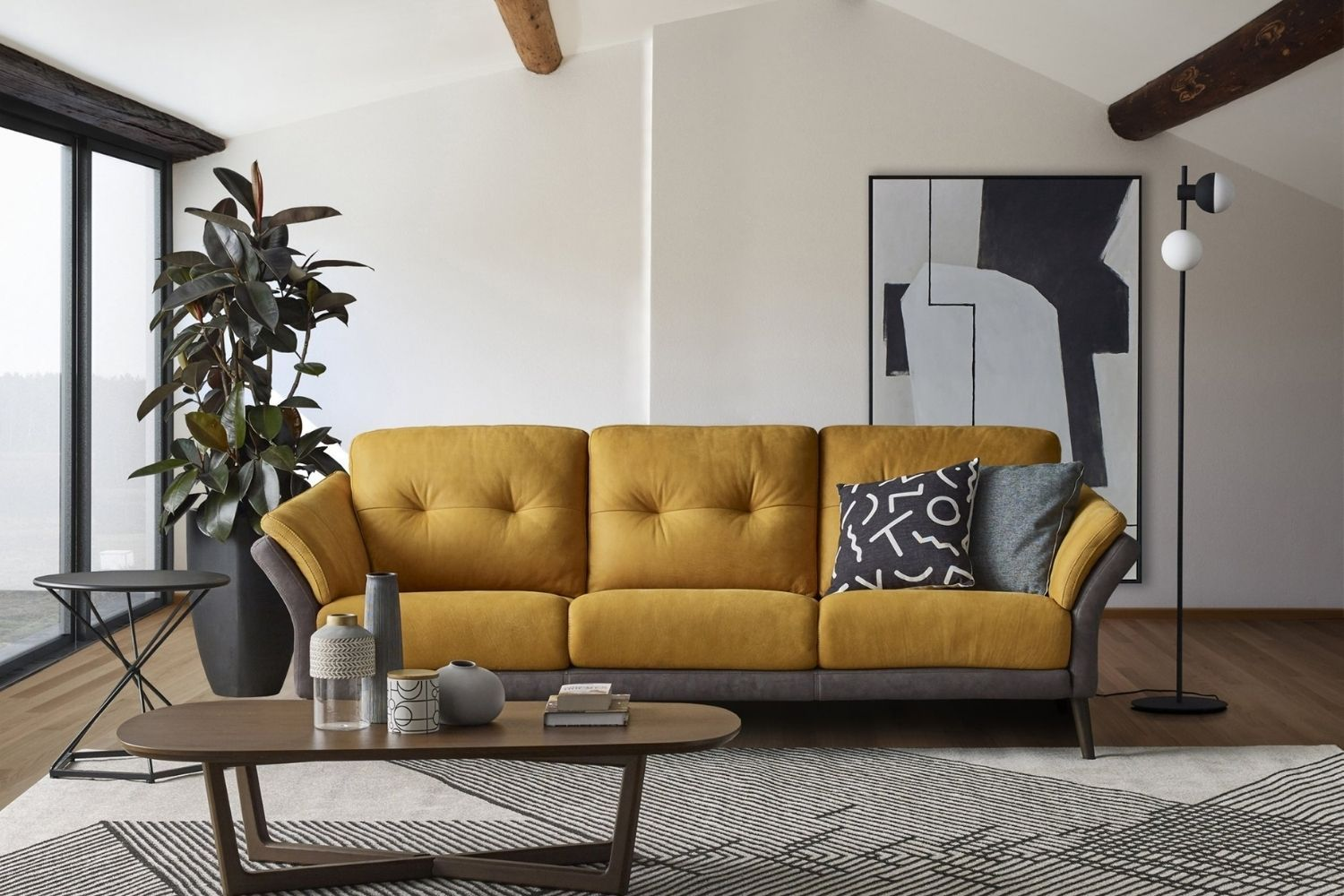 3-seater sofa in sunflower, from Rozel