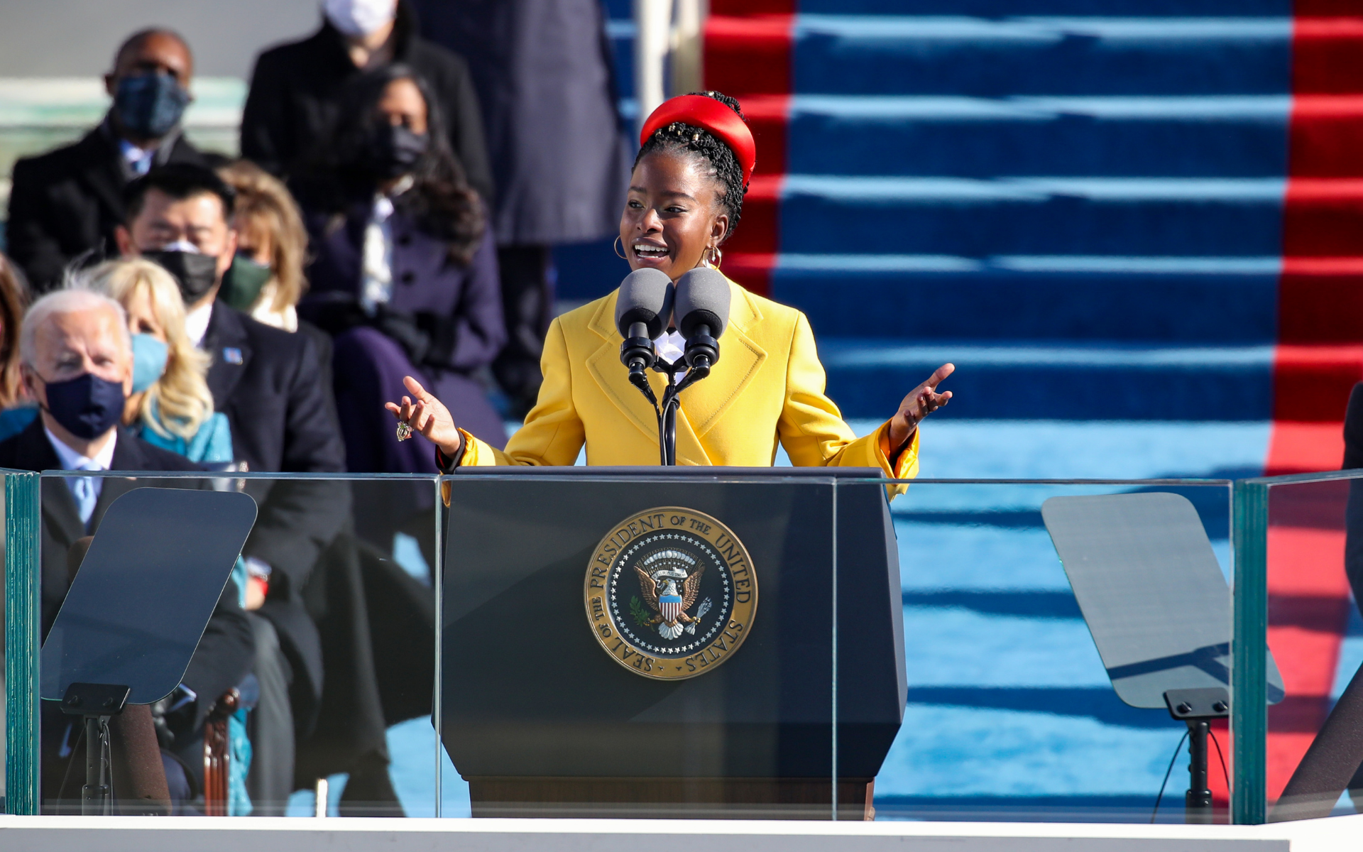 Amanda Gorman at the Presidential Inauguration Ceremony