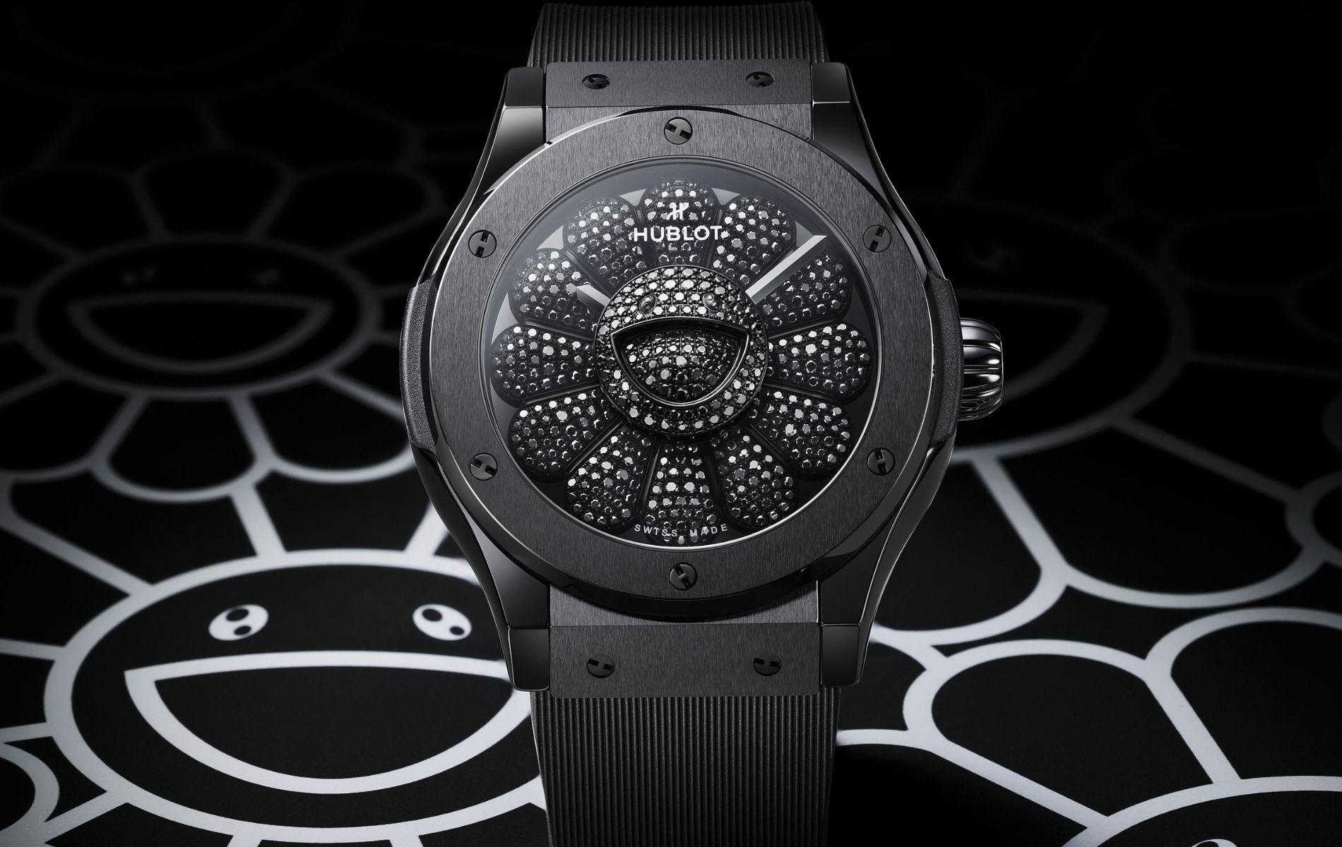 A Closer Look at the Stunning Takashi Murakami x Hublot Black Diamond Watch