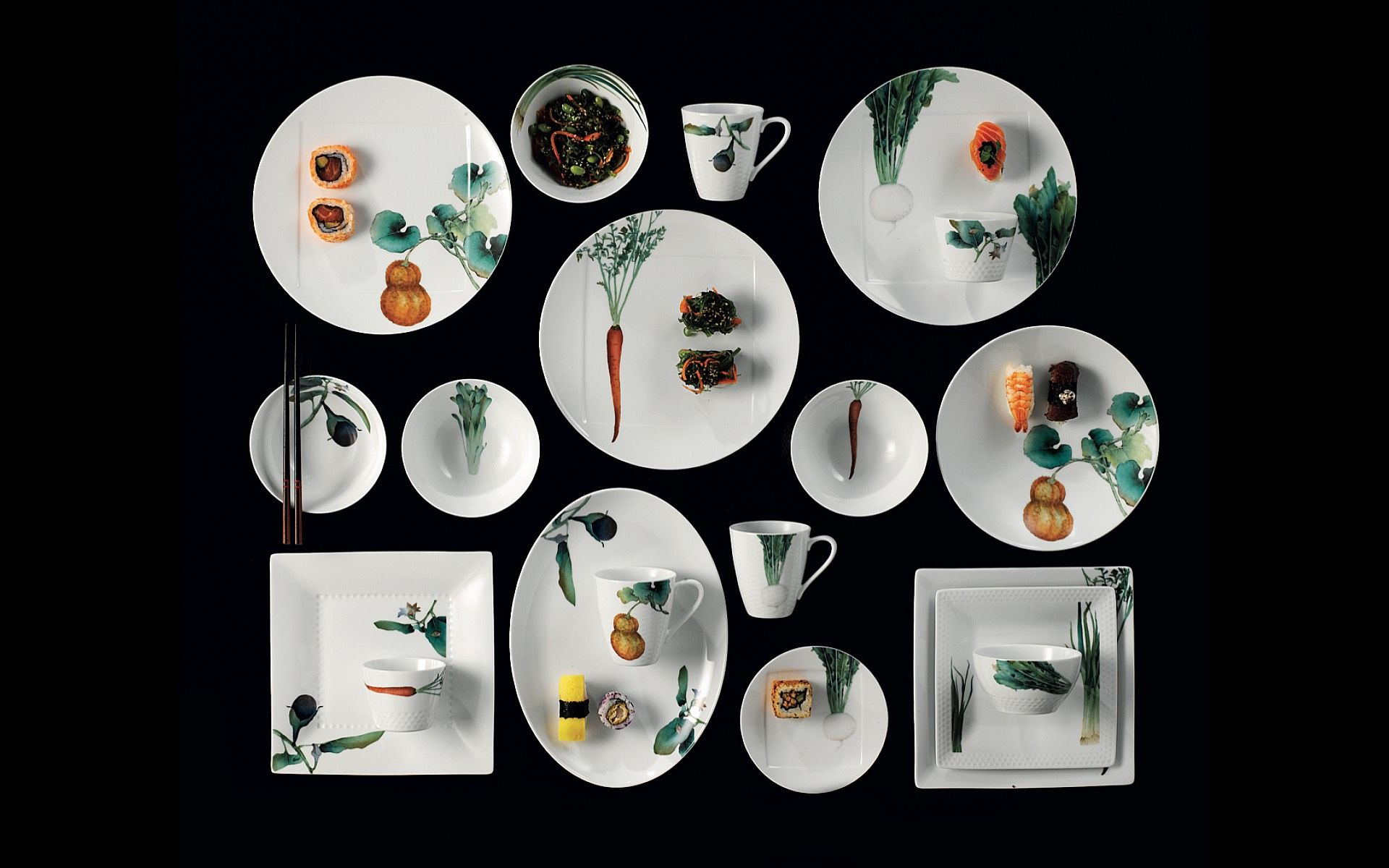 Noritake's Kyoka Shunsai collection served as one-of-a-kind trophies at the Tatler Dining Awards 2021