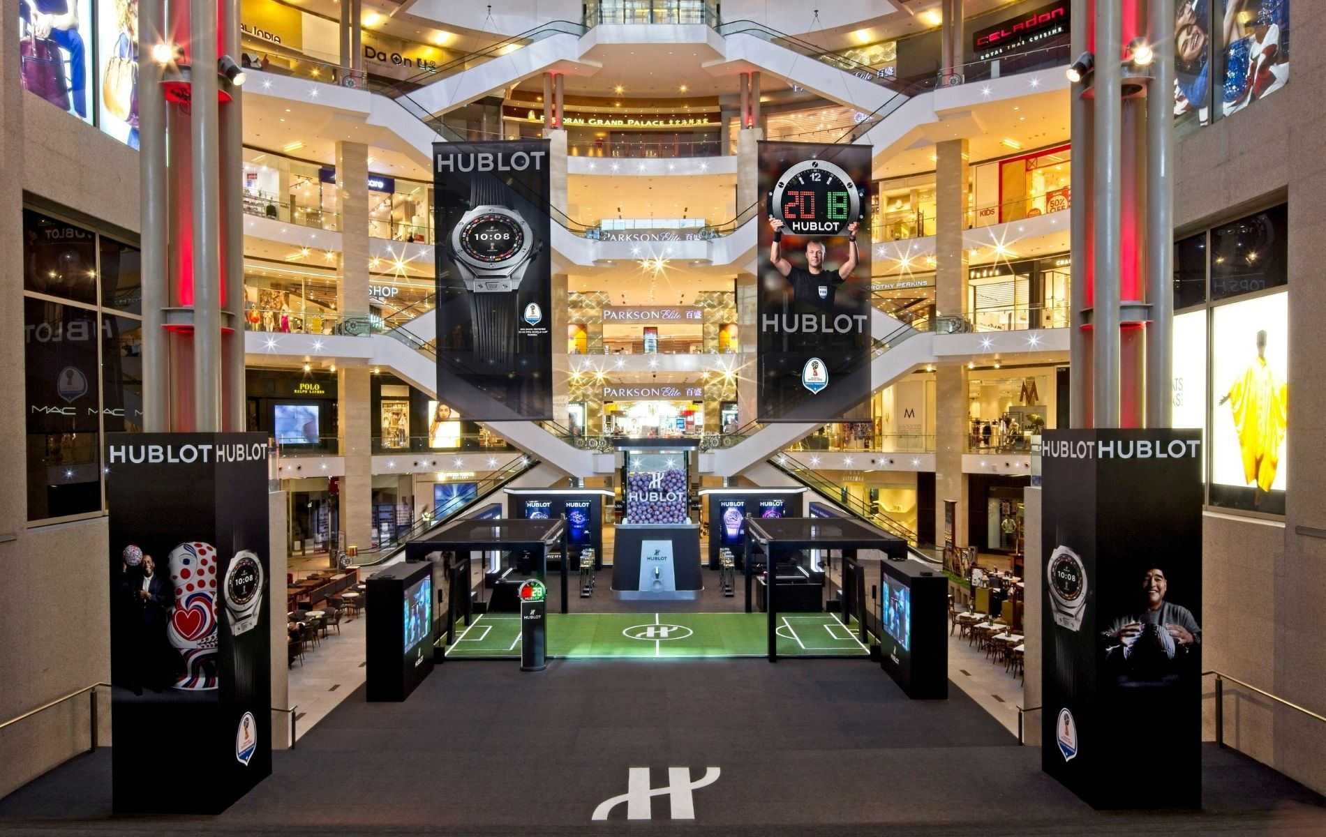 Hublot Fifa World Cup pop-up store at Pavilion KL in 2018