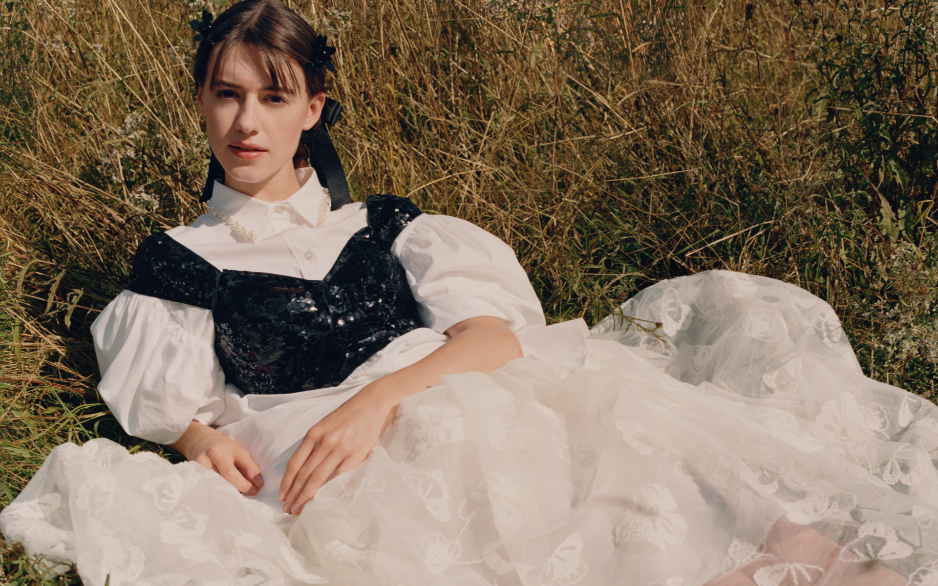 Daisy Edgar Jones, Critics Award-winning actress and breakout star from hit series, Normal People, wears the latest Simone Rocha x H&M collection