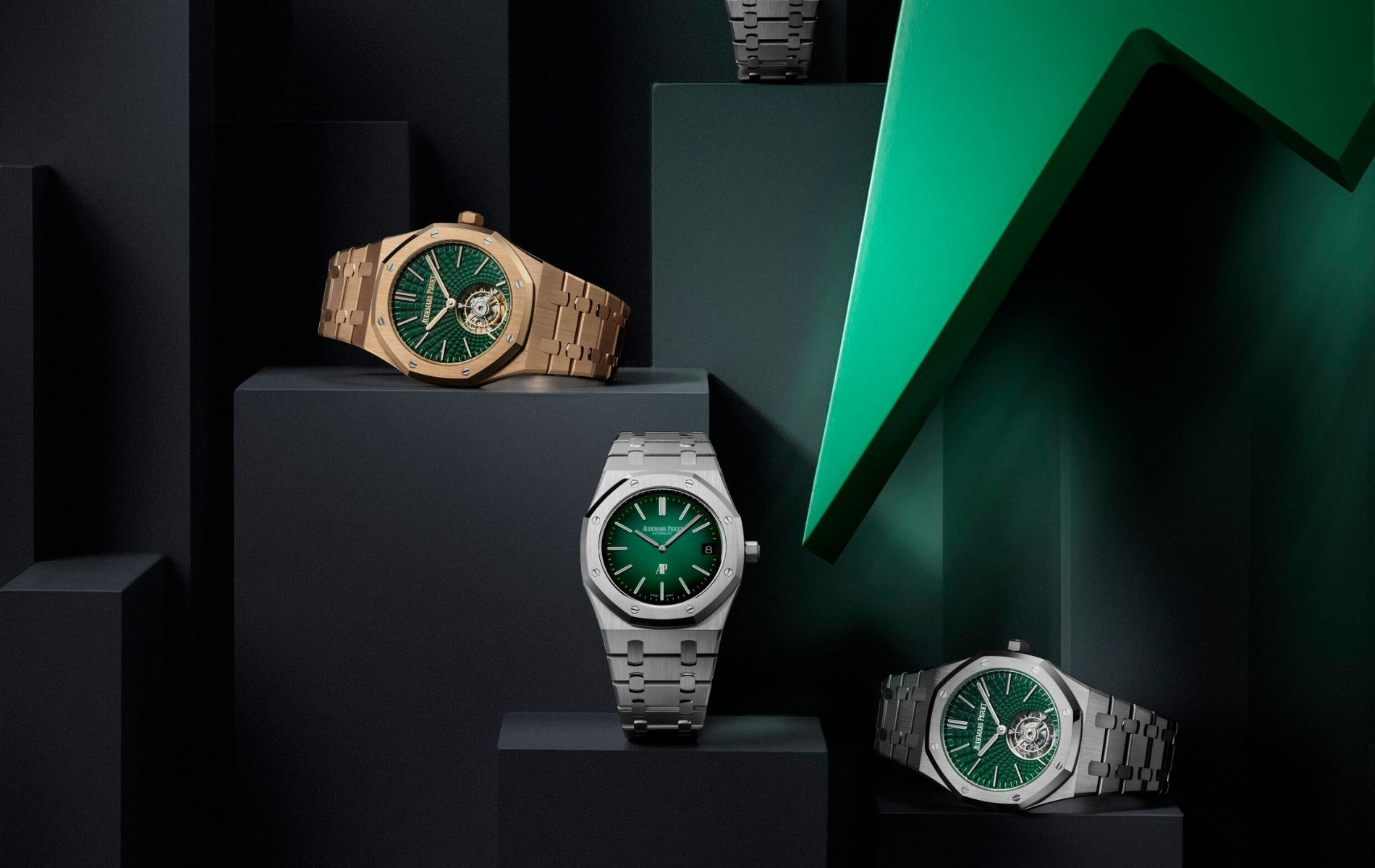 The new Royal Oak watches with green dials