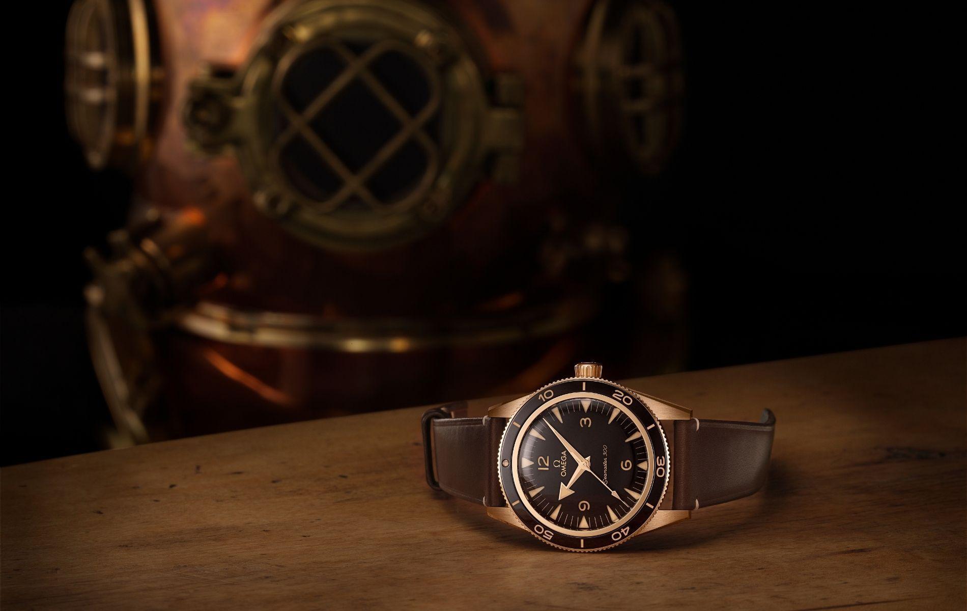 Omega Seamaster 300 in bronze-gold
