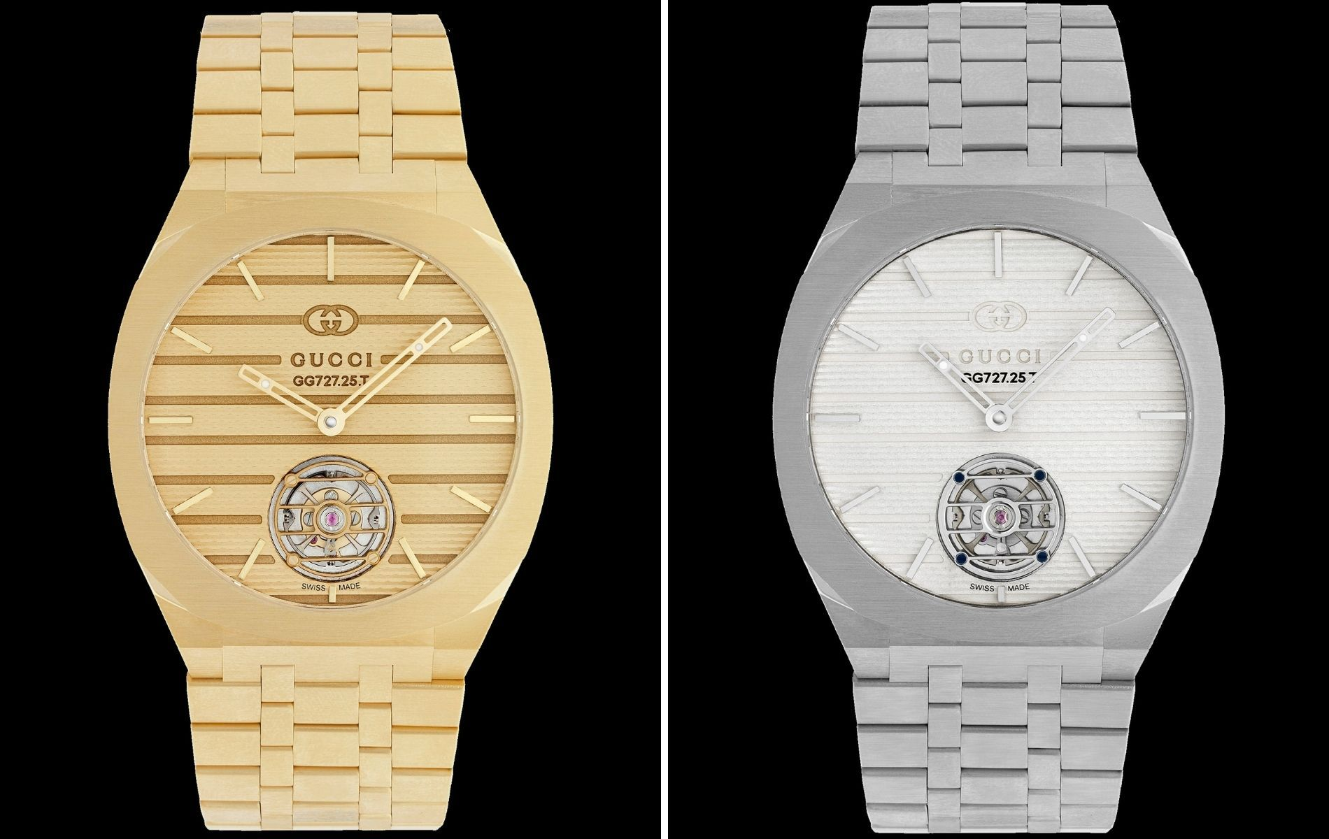 Gucci 25H tourbillon in yellow gold and platinum