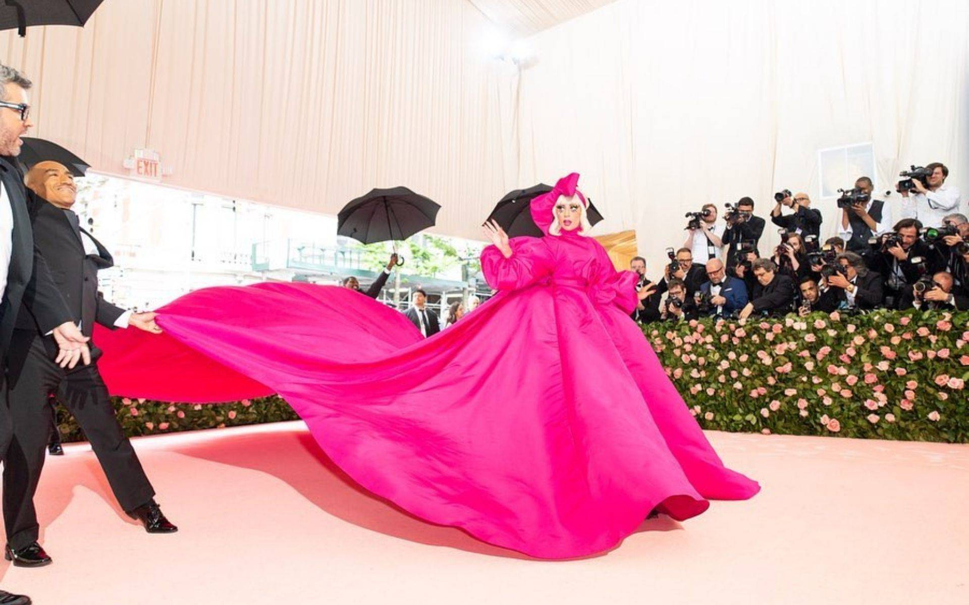"Lady Gaga in Brandon Maxwell at the 2019 Met Gala. The theme was ""Camp: Notes on Fashion"". (Photo: Instagram/@ladygaga)"