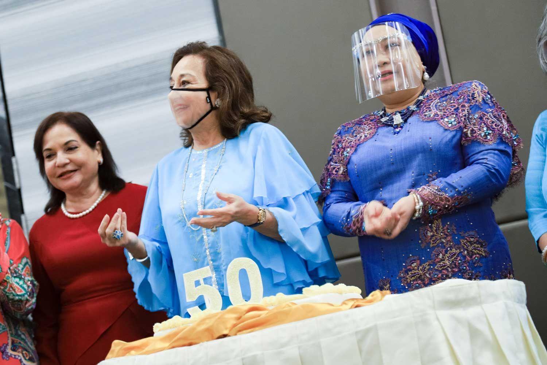 Annapurna Sengupta, Tunku Dara Tunku Tan Sri Naquiah and Tengku Puteri Tan Sri Meriam