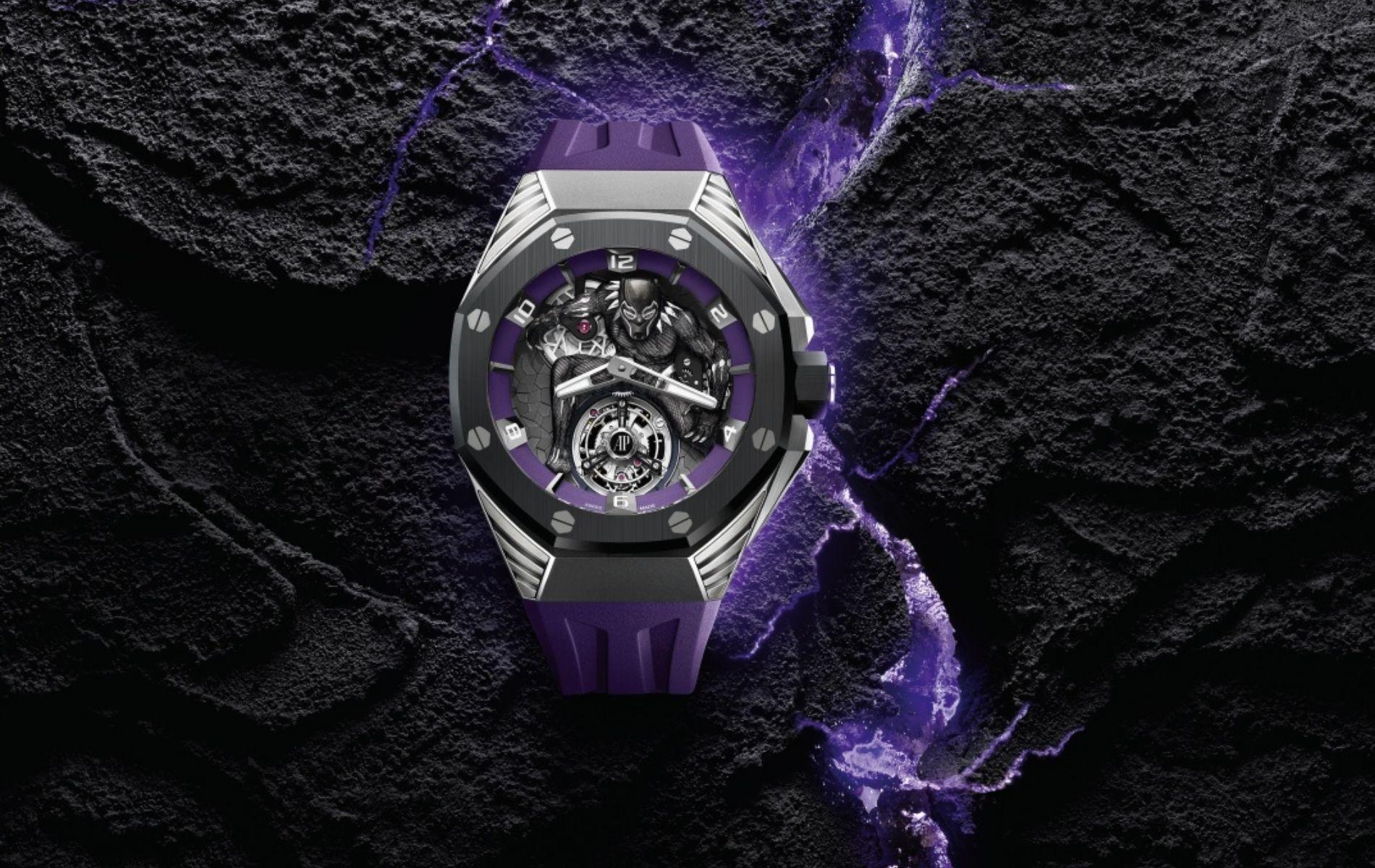 "Roytal Oak Concept ""Black Panther"" Flying Tourbillon in titanium"