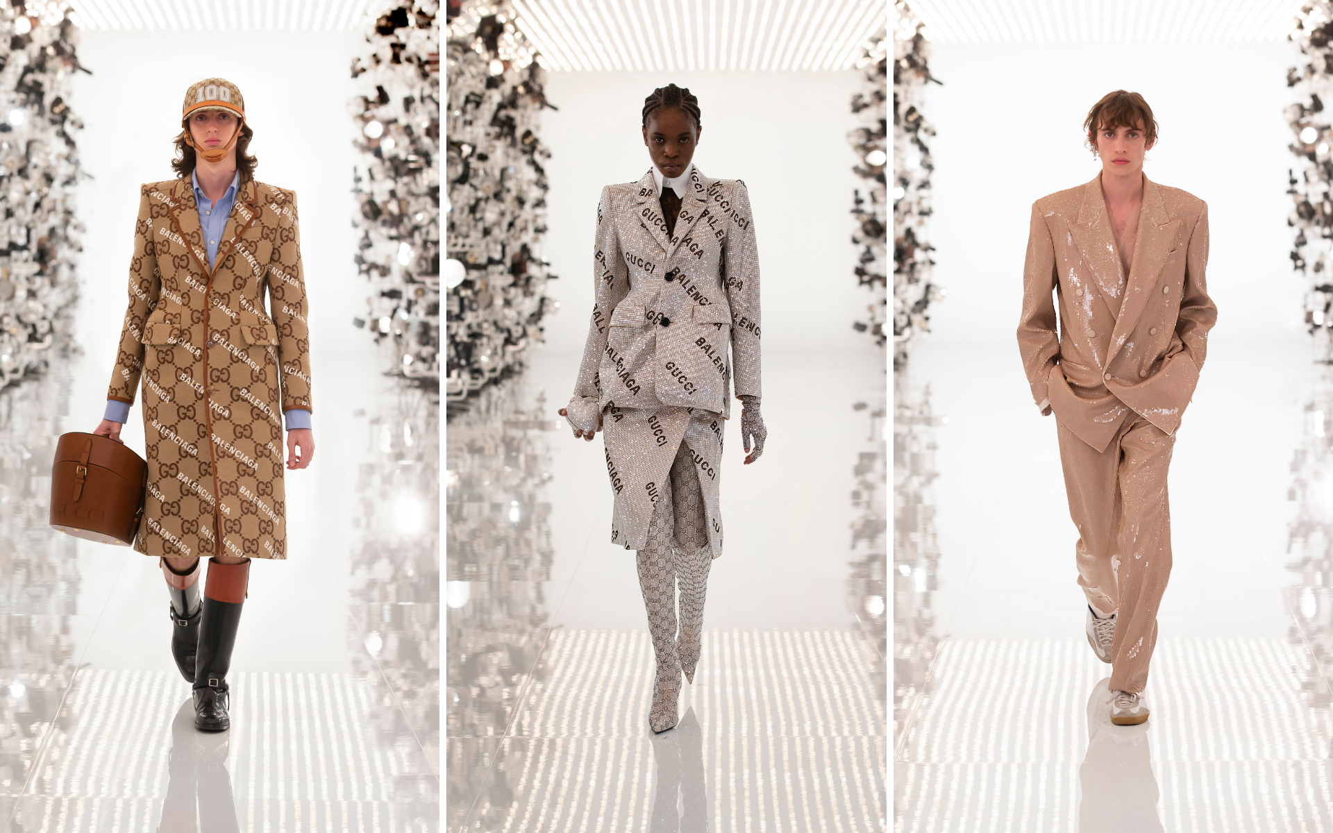 The Gucci Aria show features an exciting collaboration between Gucci and Balenciaga