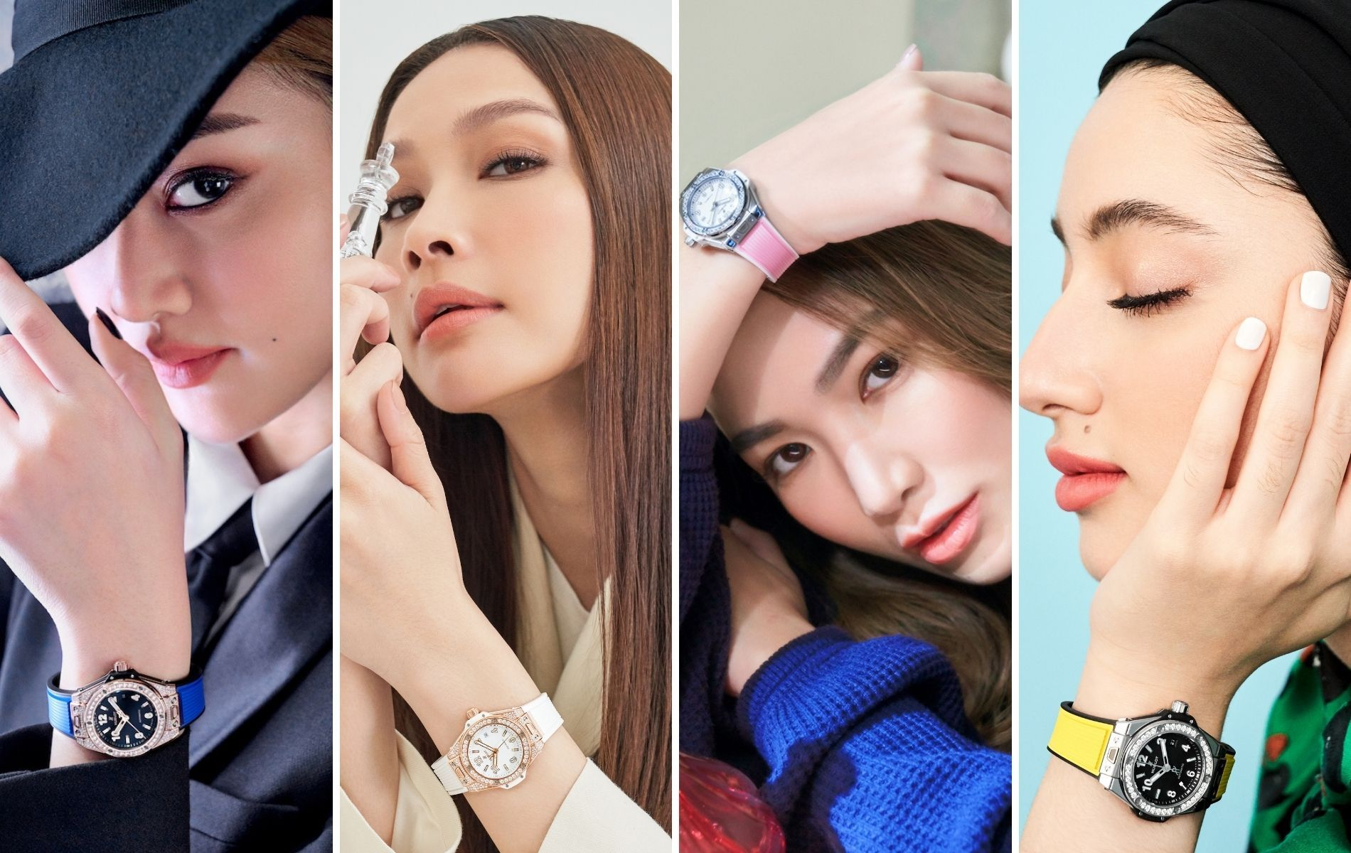 Christinna Kuan, Scha Alyahya, Jane Chuck and Ameera Khan wearing Hublot Big Bang One Click 33mm