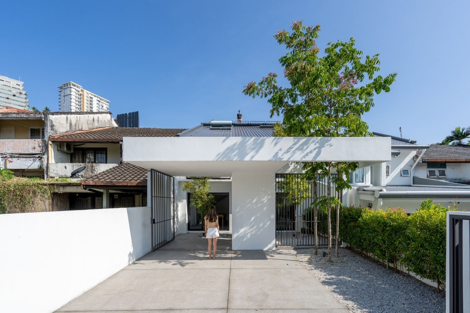 Home Tour: A Terrace House In Kuala Lumpur With A T-Shaped Facade
