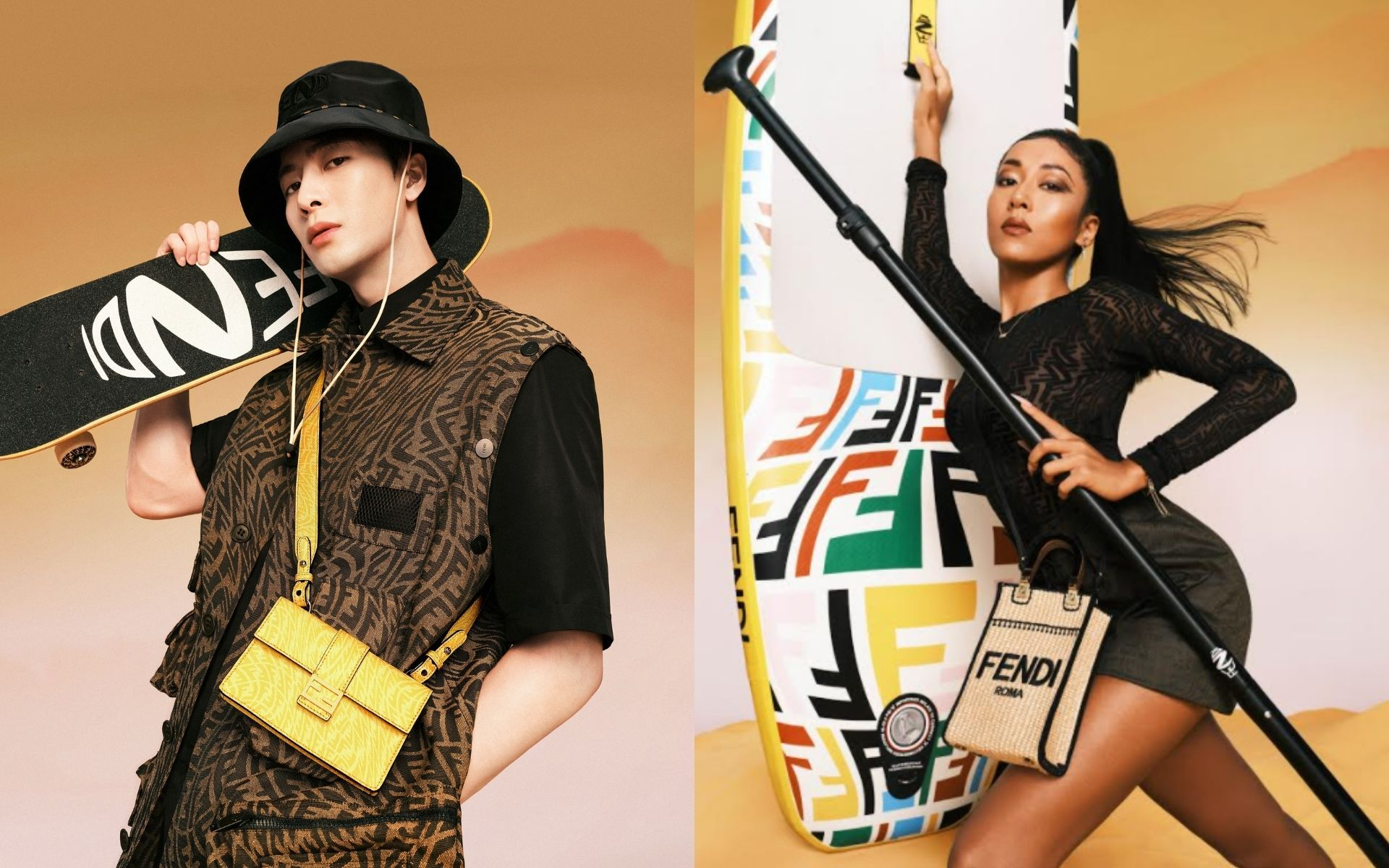 Jackson Wang and Jike Junyi star in the Fendi Summer Capsule Collection campaign