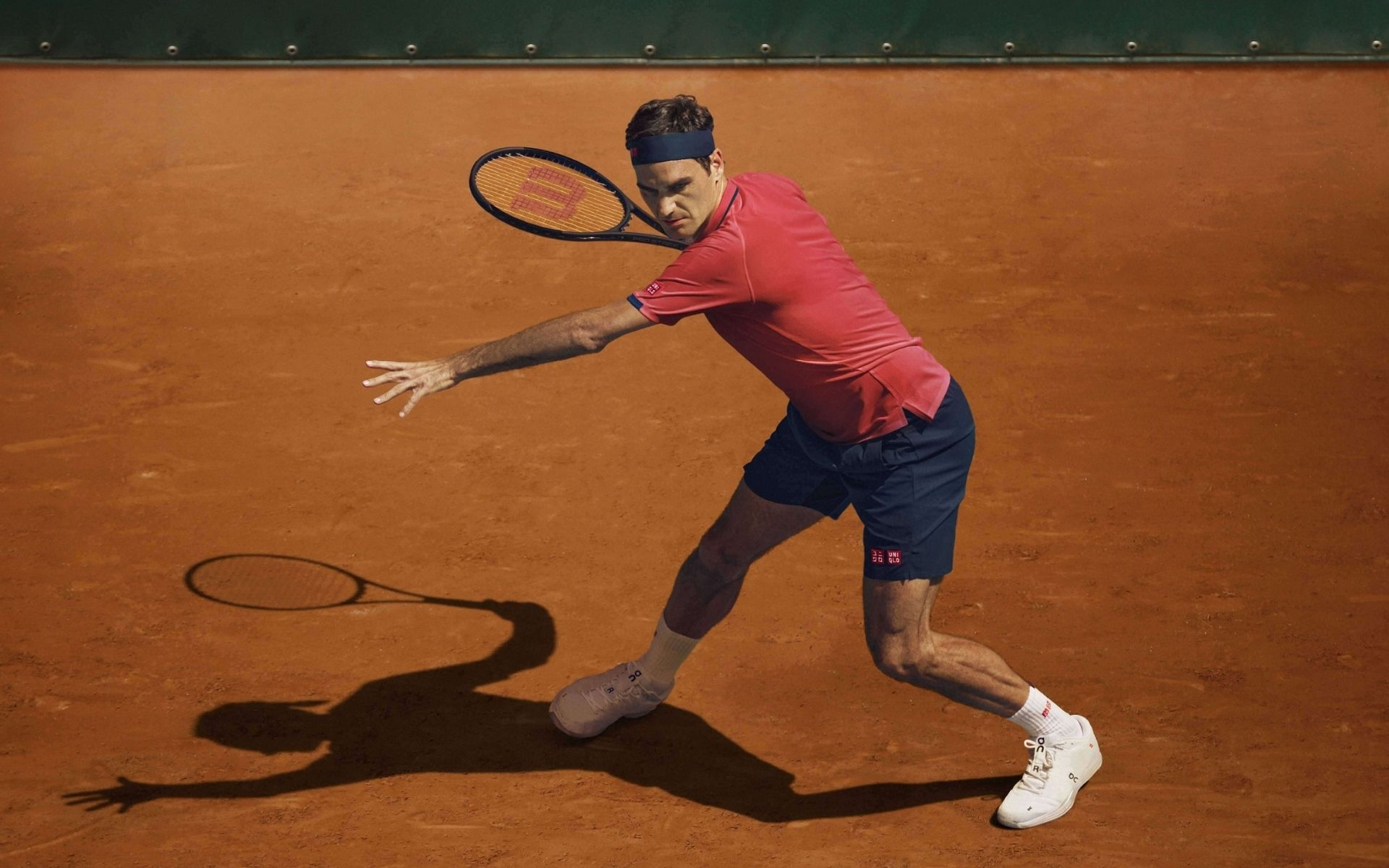 Roger Federer and his new Uniqlo game wear line in motion