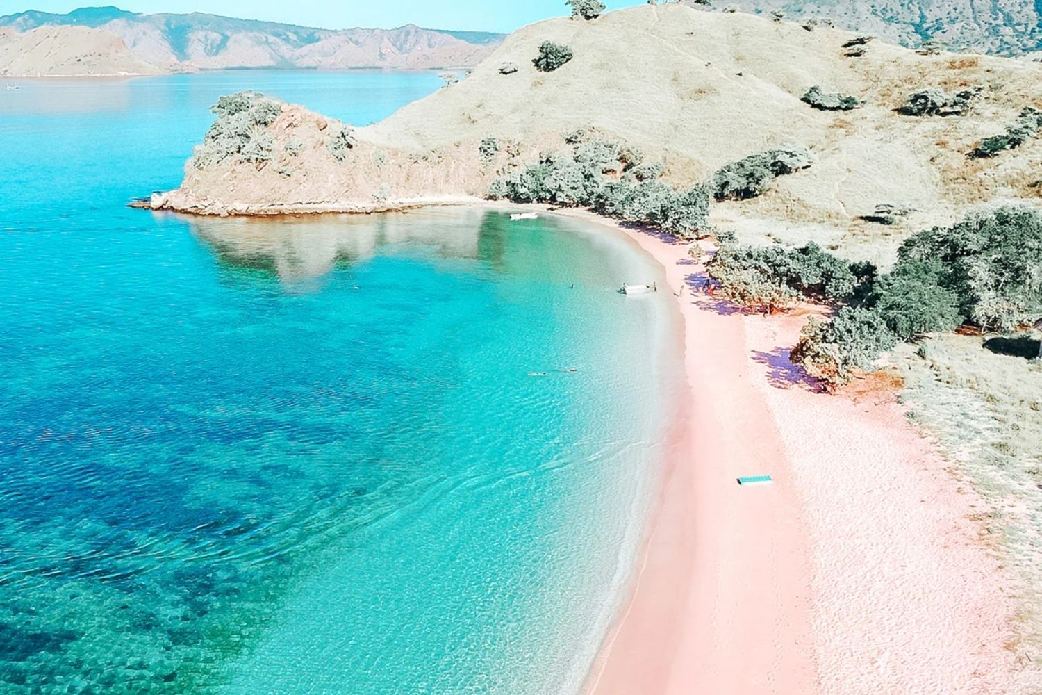 From sea glass-covered beaches to the soft pink sands of Pantai Merah in Indonesia's Komodo Island (pictured here), these beaches are truly unique (Photo: Ministry of Tourism, Indonesia)