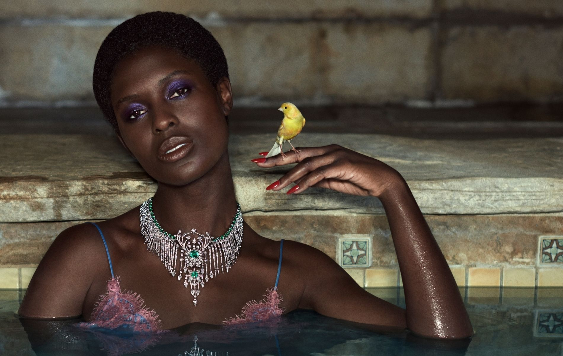 Jodie Turner-Smith models the latest Gucci high jewellery