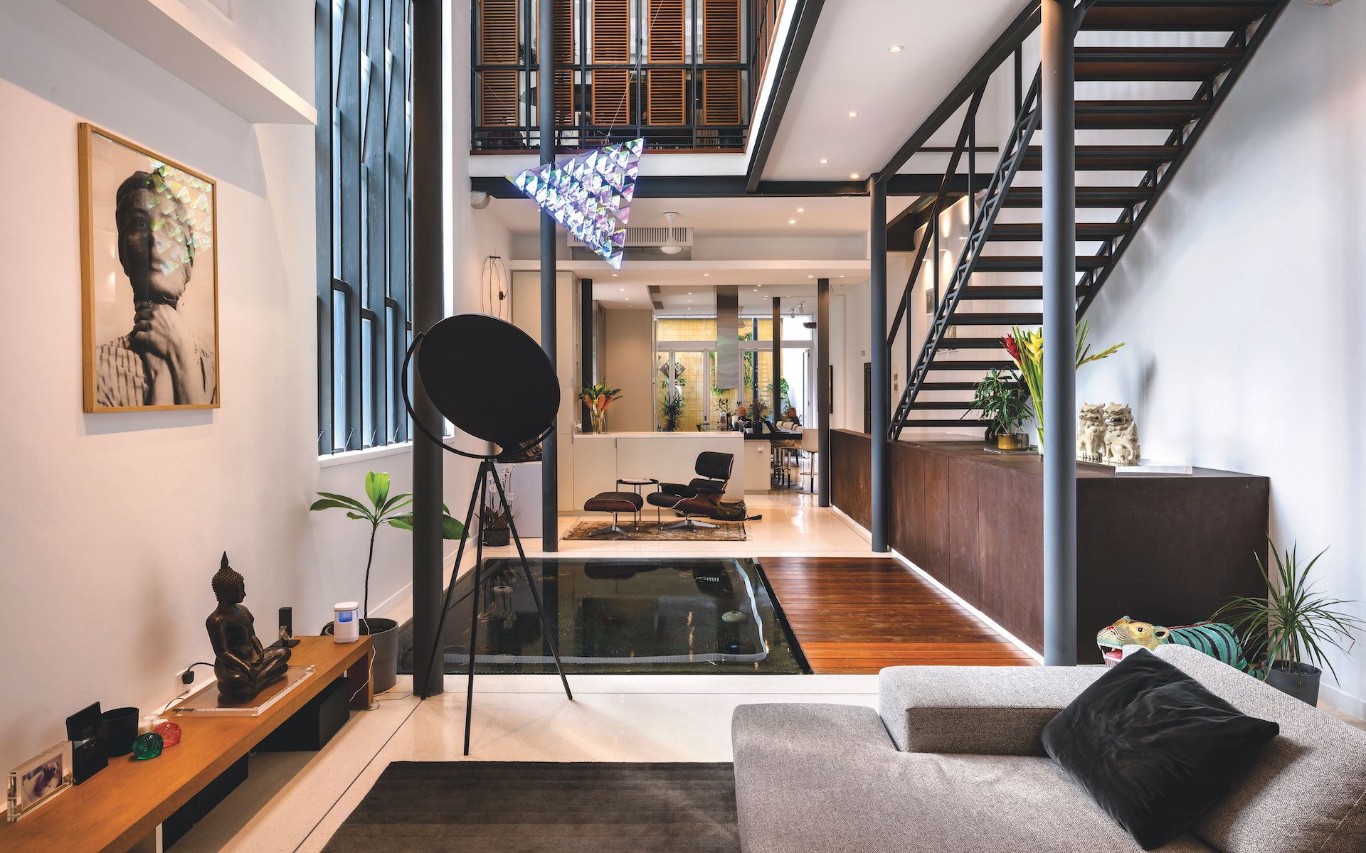 The inside of the shophouse is a paragon of modern living space - Photography by Lin Ho